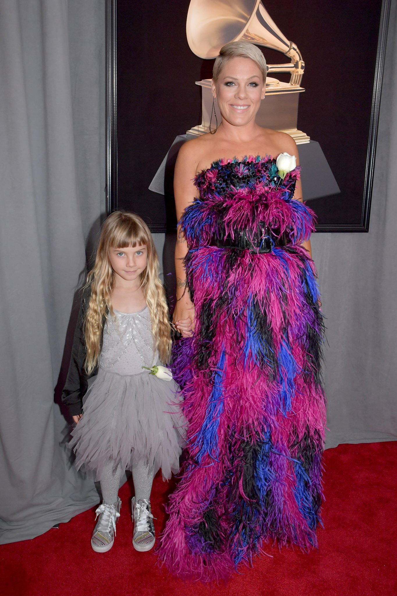 Willow Sage Hart and recording artist Pink attend the 60th Annual GRAMMY Awards at Madison Square Garden on January 28, 2018 in New York City.