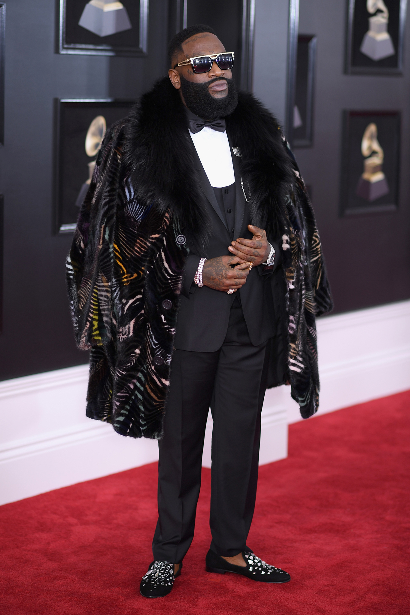 Recording artist Rick Ross attends the 60th Annual GRAMMY Awards at Madison Square Garden on January 28, 2018 in New York City.
