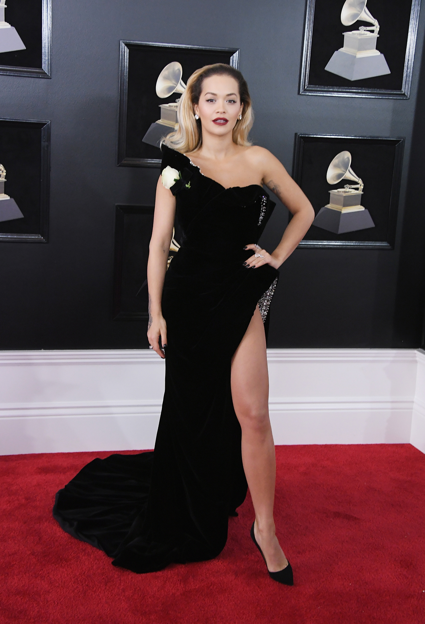 Recording artist Rita Ora attends the 60th Annual GRAMMY Awards at Madison Square Garden on January 28, 2018 in New York City.
