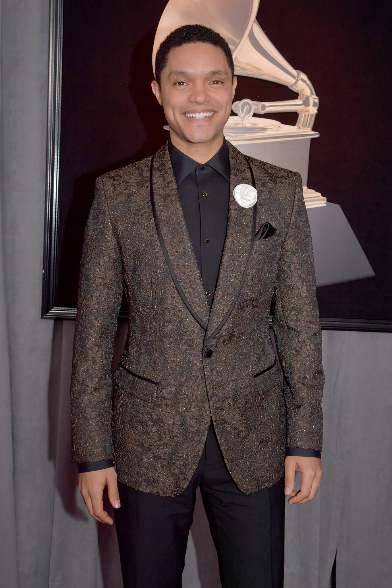 Comedian Trevor Noah attends the 60th Annual GRAMMY Awards at Madison Square Garden on January 28, 2018 in New York City.