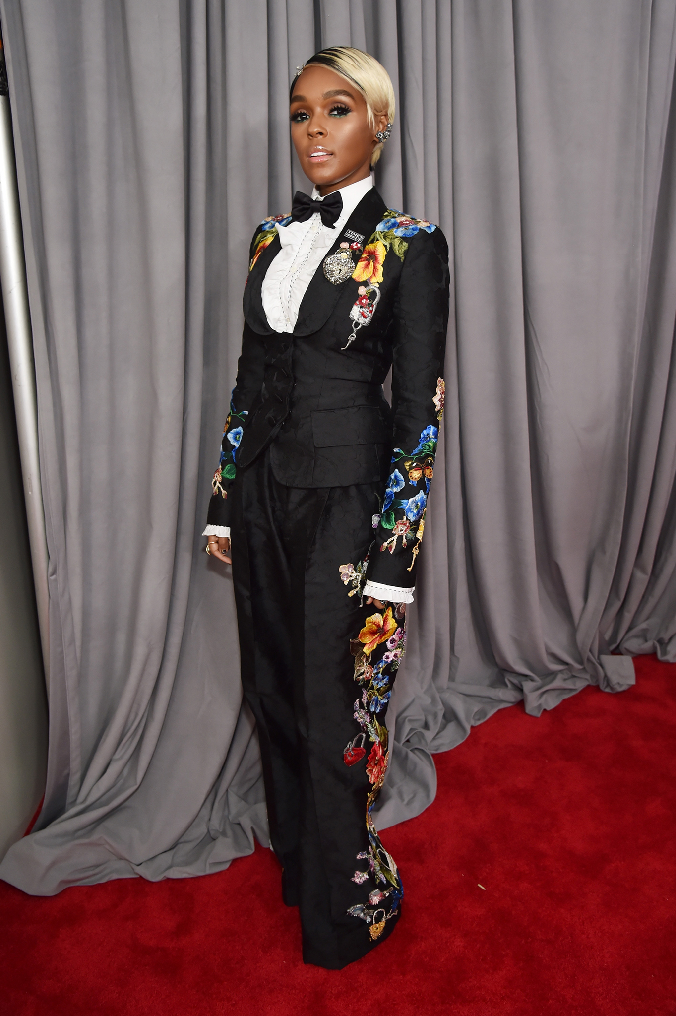 Recording artist and actor Janelle Monae attends the 60th Annual GRAMMY Awards at Madison Square Garden on Jan. 28, 2018 in New York City.
