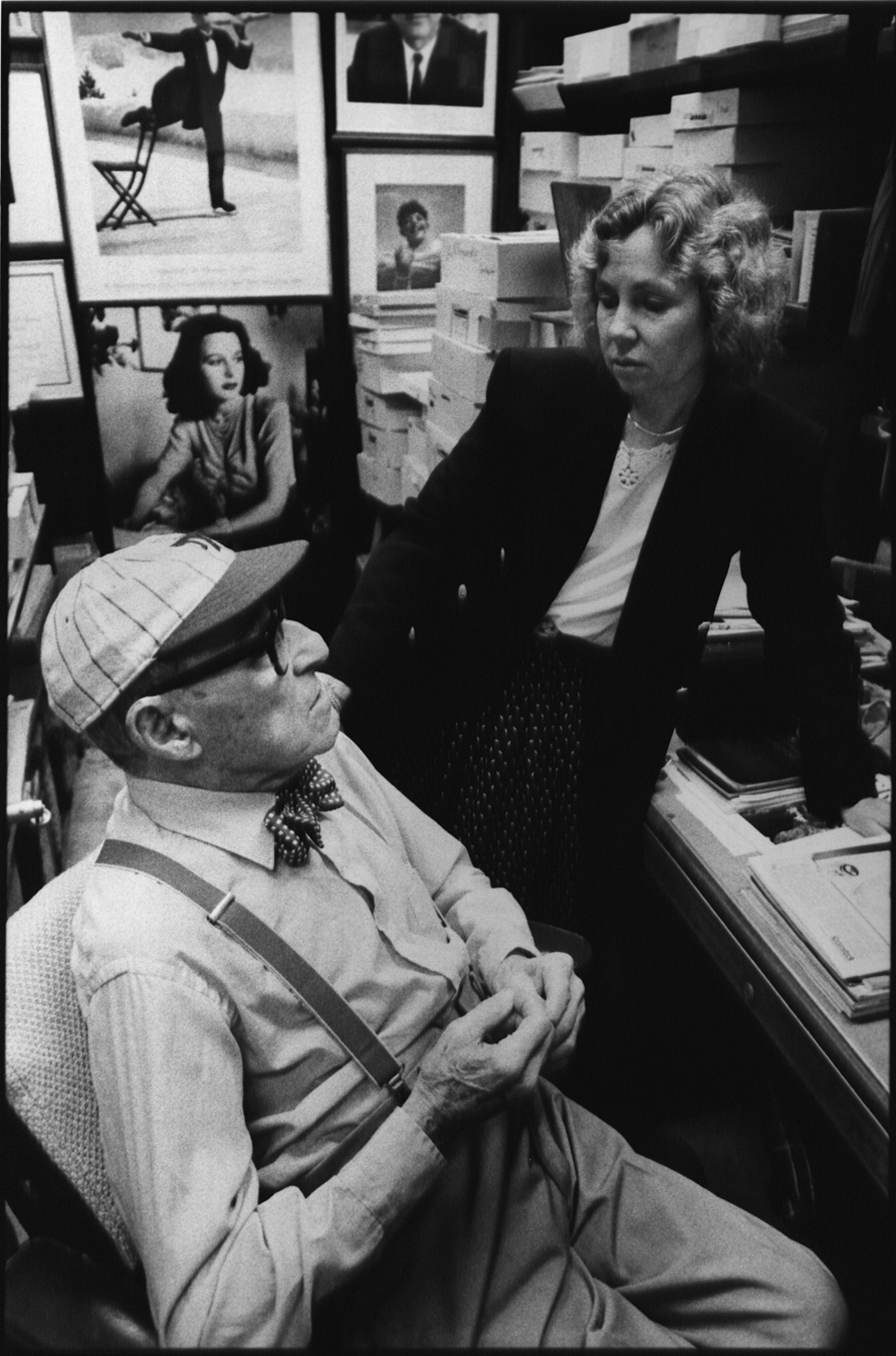 Bobbi Baker Burrows and Alfred Eisenstaedt in his office at the Time & Life Building.