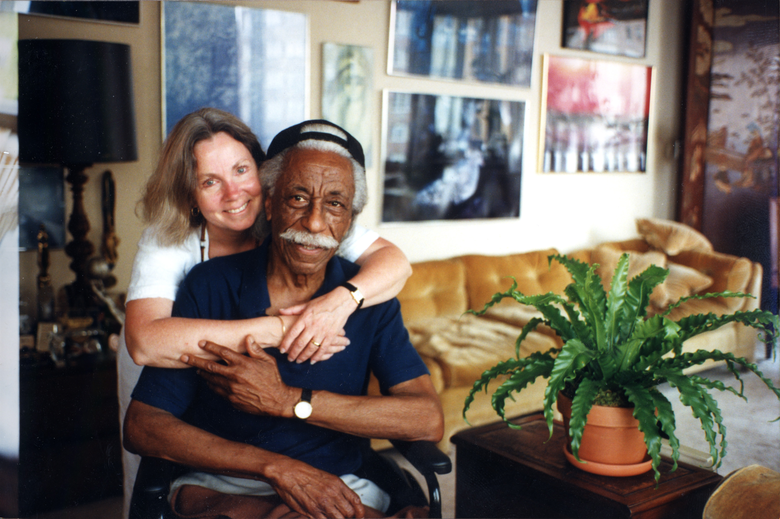 Bobbi with photographer Gordon Parks.