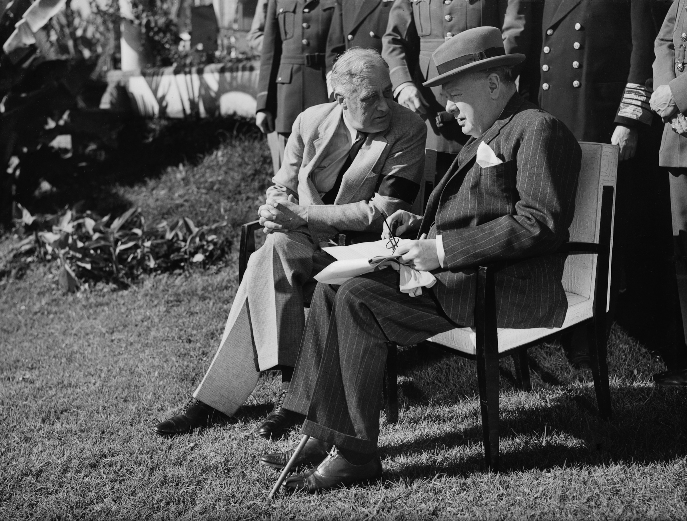 President Roosevelt and Prime Minister Churchill at the Allied Conference In Casablanca, January 1943.