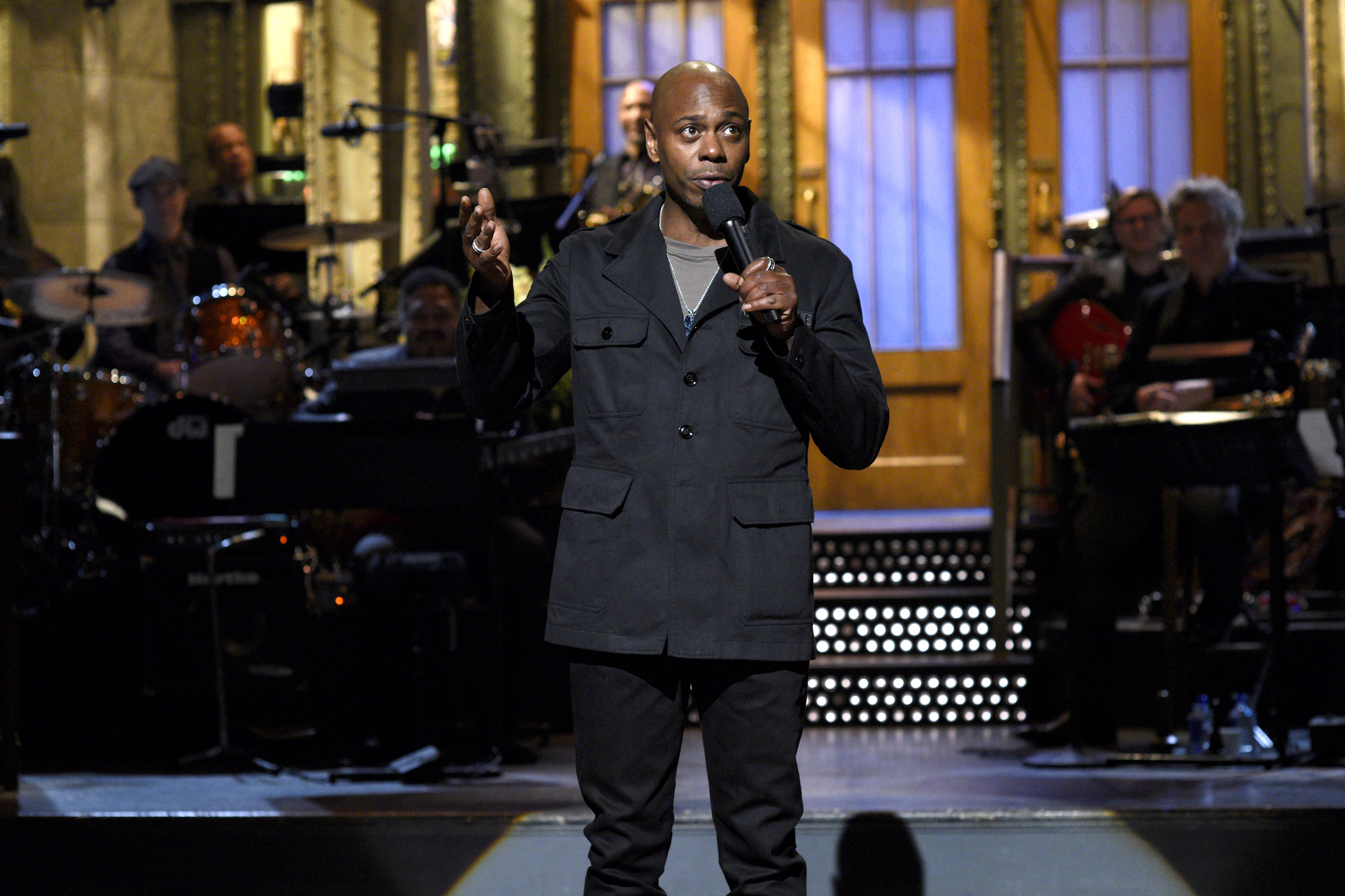 Dave Chappelle speaks on  Saturday Night Live  on Nov. 12, 2016.