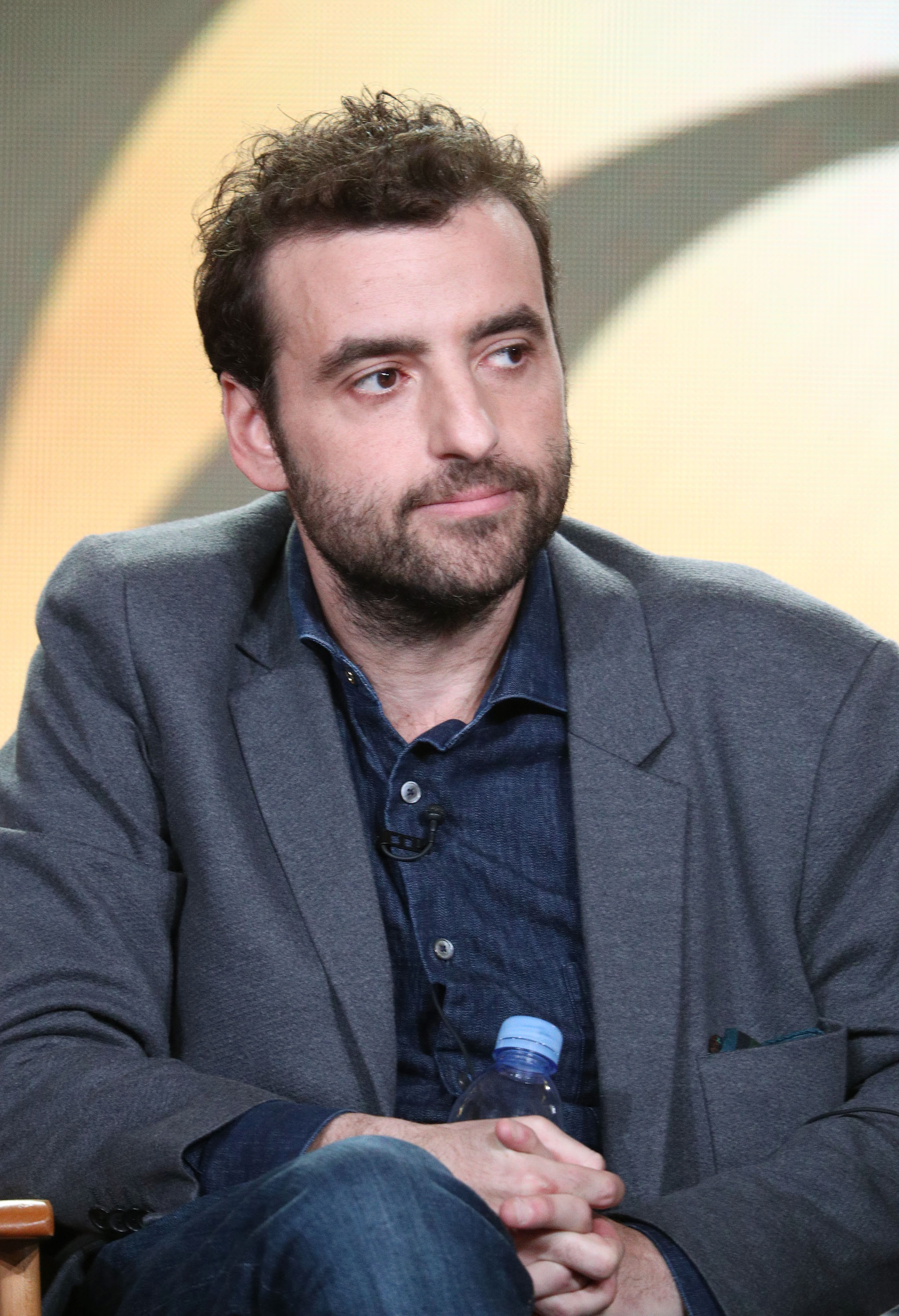 Actor David Krumholtz of the television show Living Biblically speaks onstage during the CBS/Showtime portion of the 2018 Winter Television Critics Association Press Tour at The Langham Huntington, Pasadena on January 6, 2018 in Pasadena, California. (Photo by Frederick M. Brown/Getty Images)
