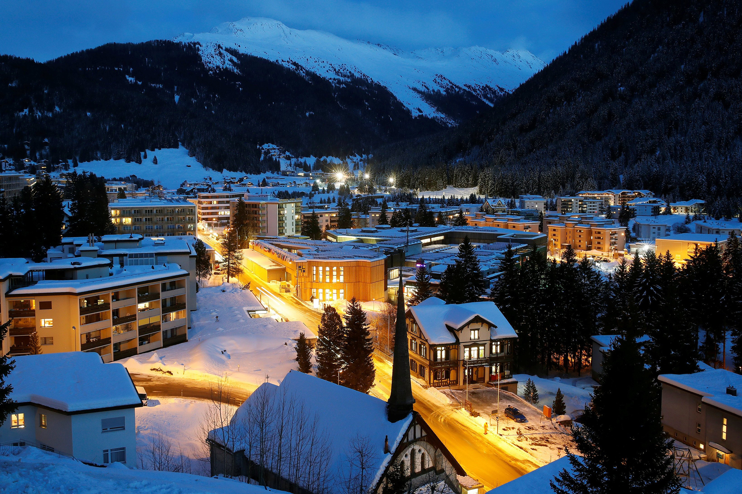 Nestled in the SwissAlps, Davos (pop.11,000) was best known as a ski resort until the World Economic Forum made it synonymous with the global elite