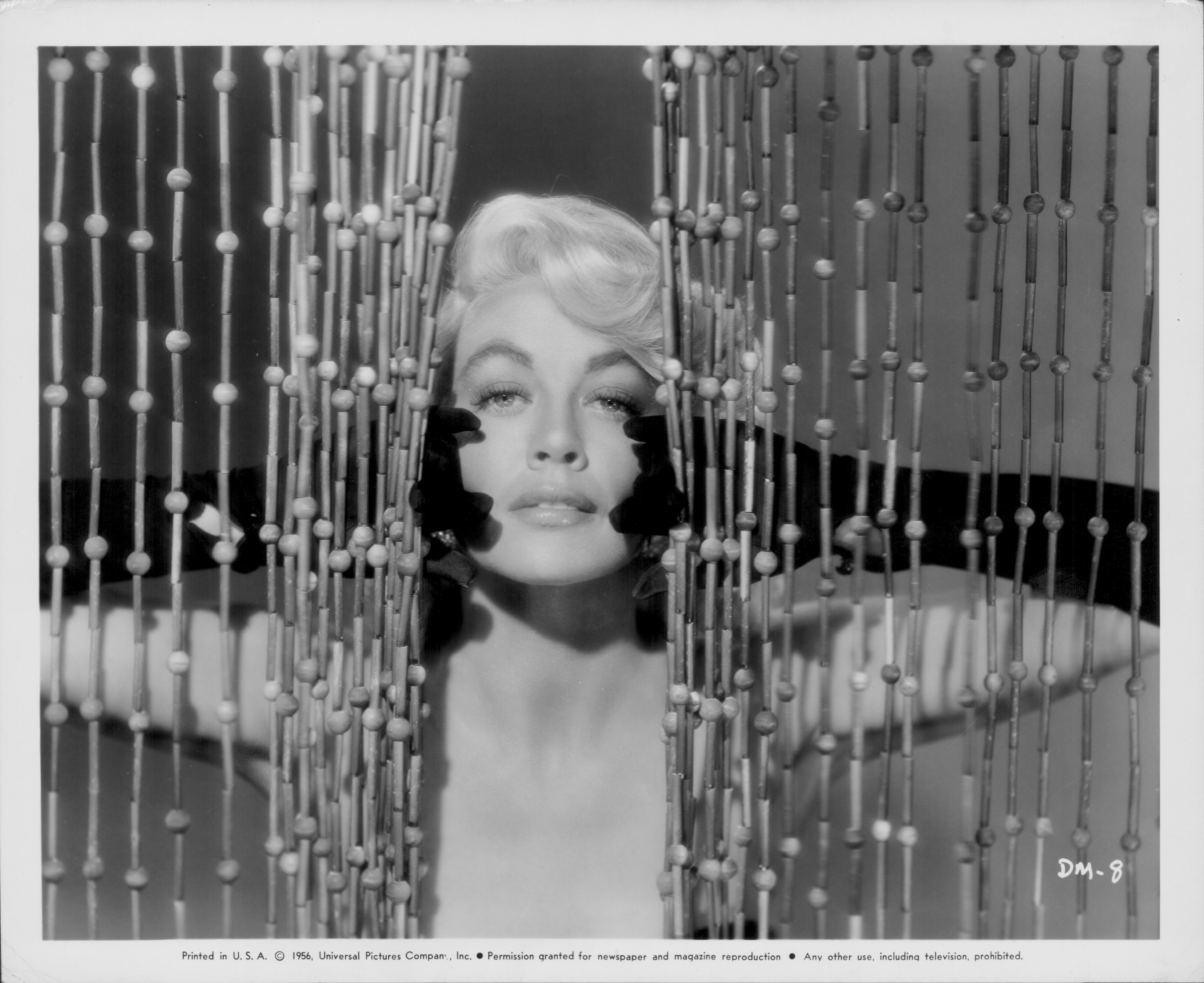 Promotional shot of actress Dorothy Malone, as she appears in the movie 'Quantez', 1956.