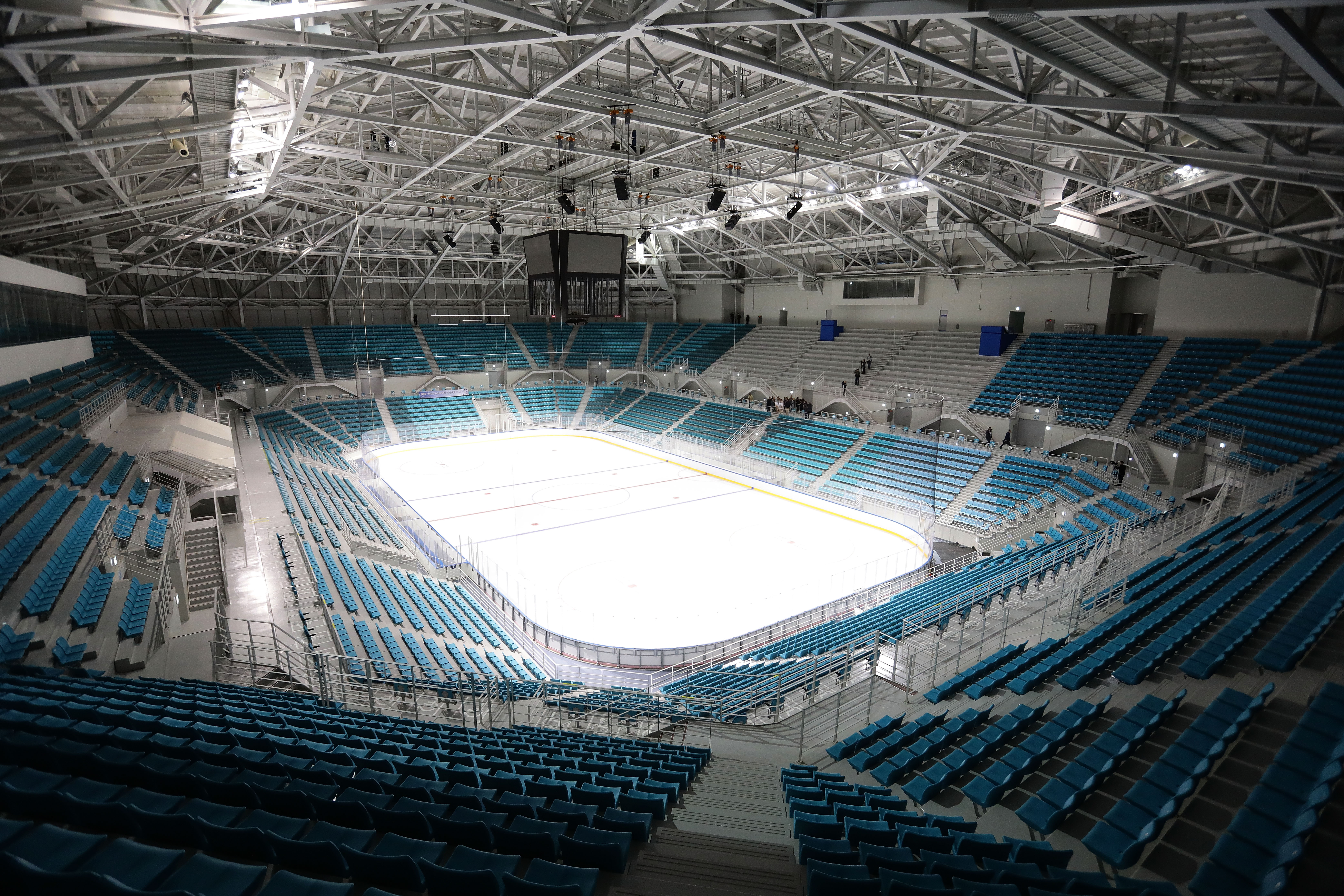A general view of the Gangneung Hockey Centre, Ice Hockey venue for the PyeongChang 2018 Winter Olympic Games.