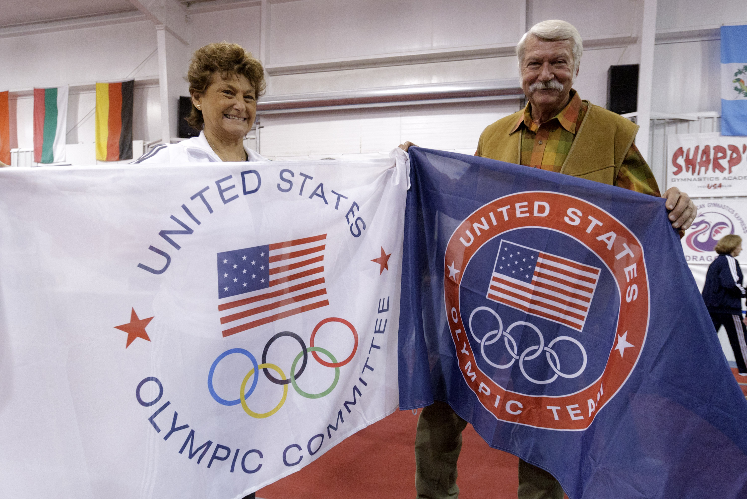 Martha and Bela Karolyi in 2011, when their ranch was named the USA Gymnastics national training center