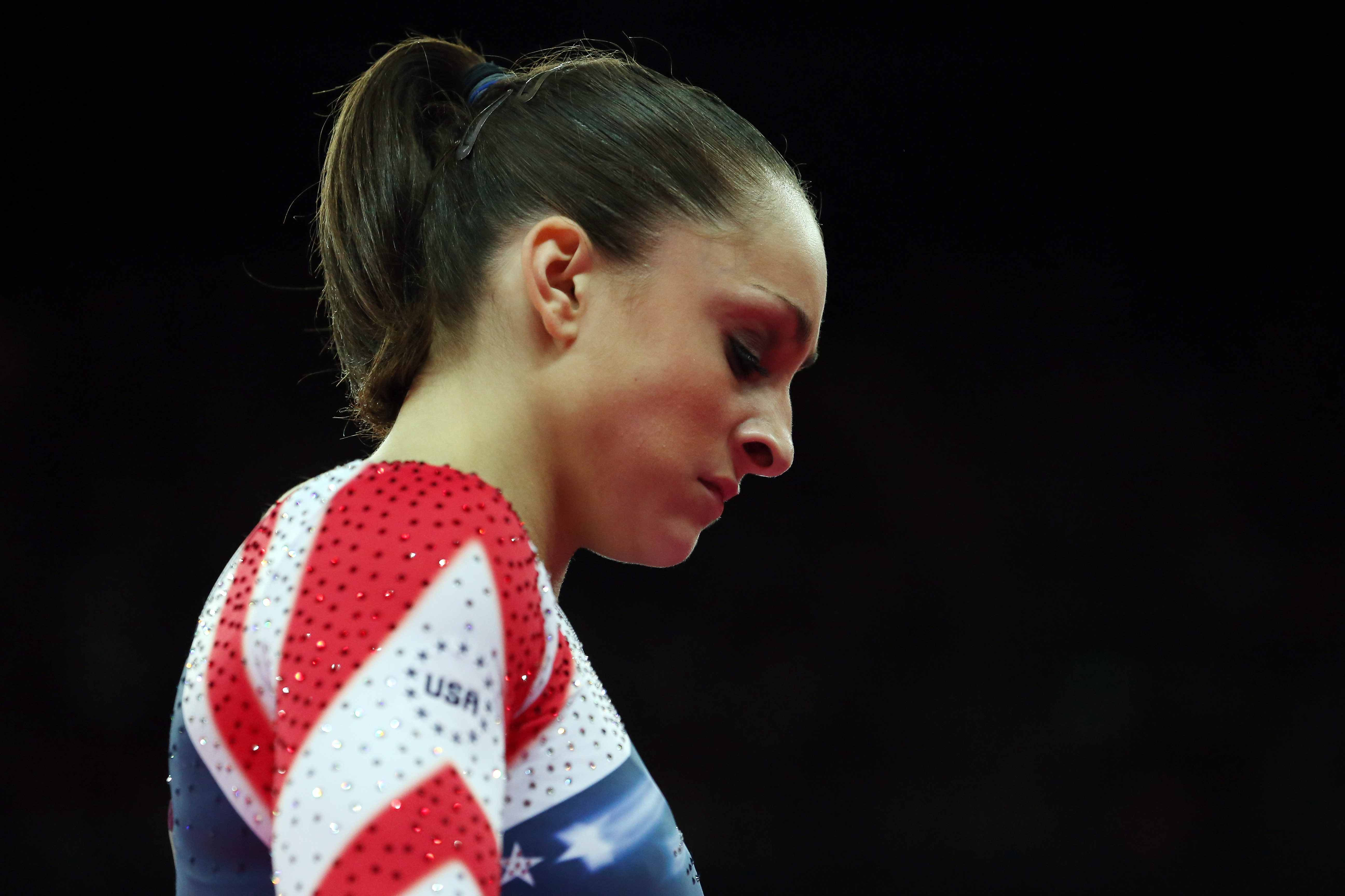 Wieber competing at the 2012 Olympic Games in London