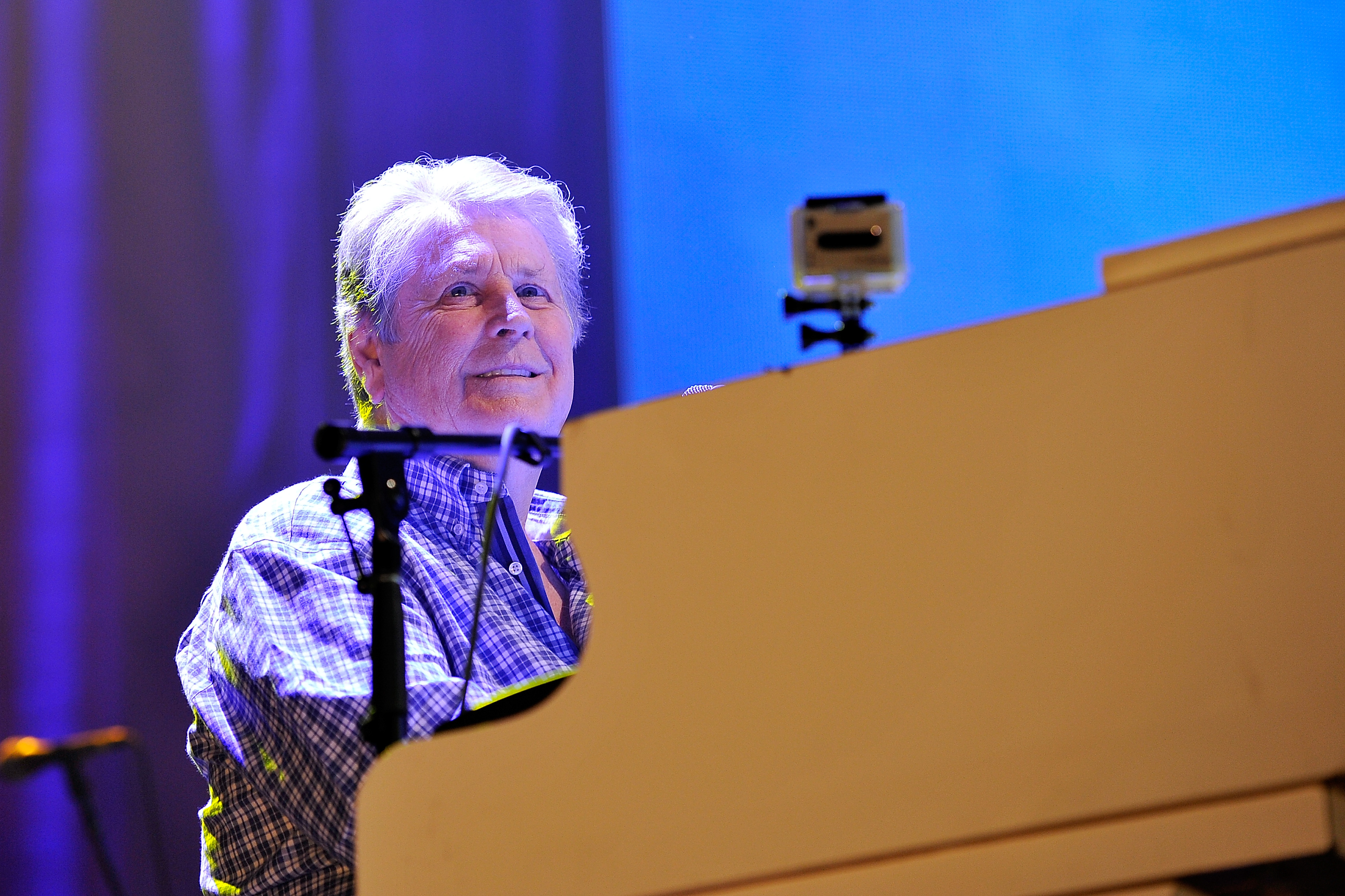 Brian Wilson of The Beach Boys performs on their 50th Anniversary tour at Wembley Arena in London, U.K. on Sept. 28, 2012.