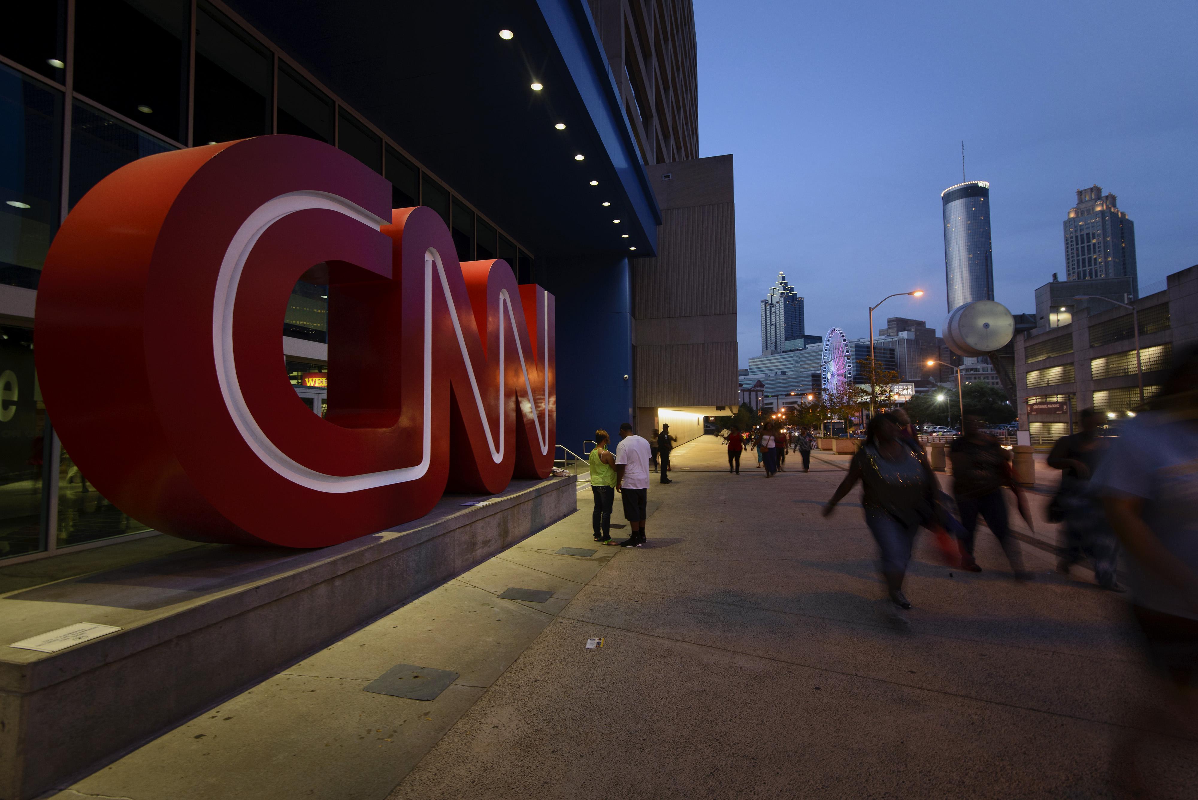CNN's headquarters building in Atlanta, Georgia, seen on Aug. 2, 2014.
