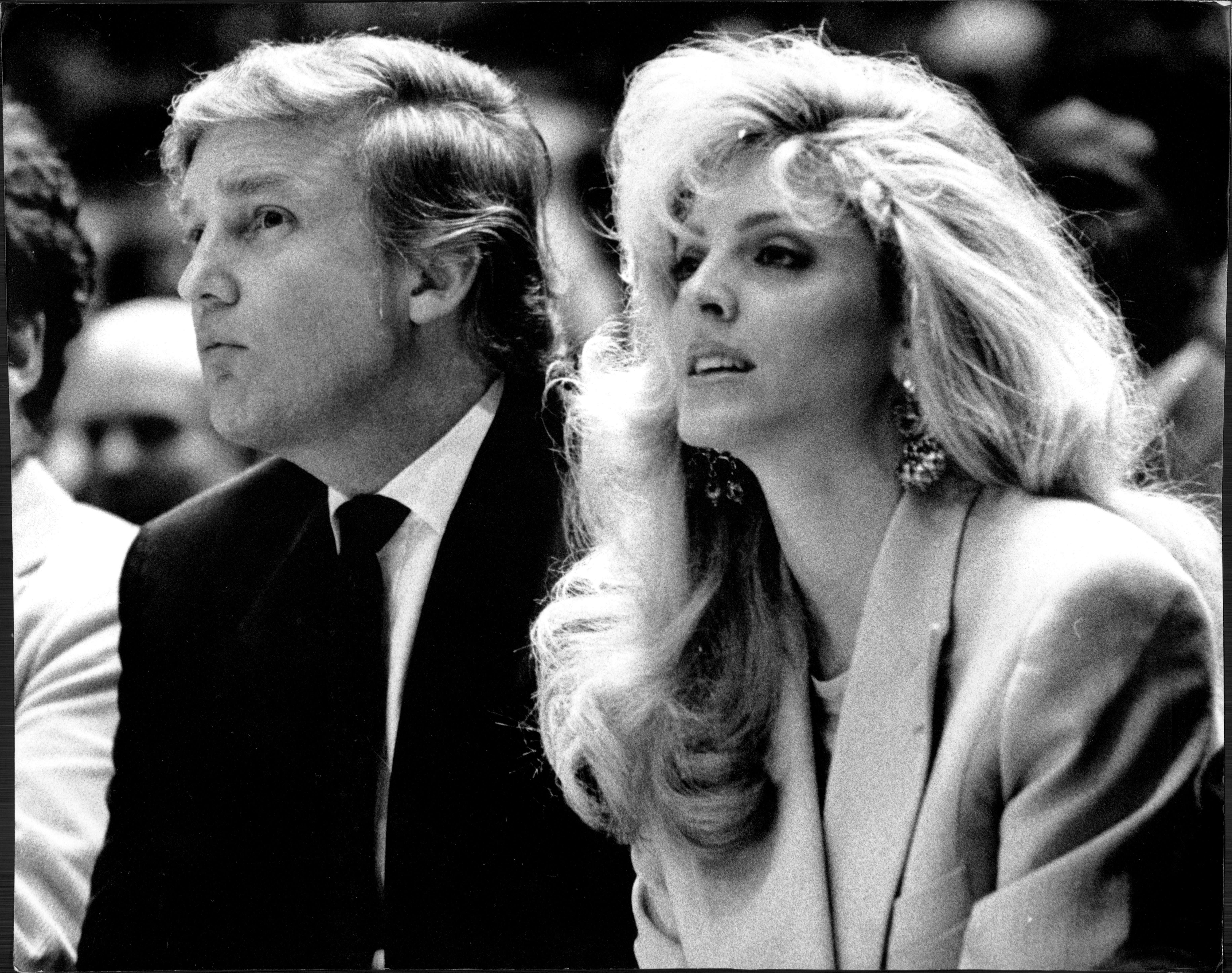 Donald Trump, left, and Marla Maples in 1991.