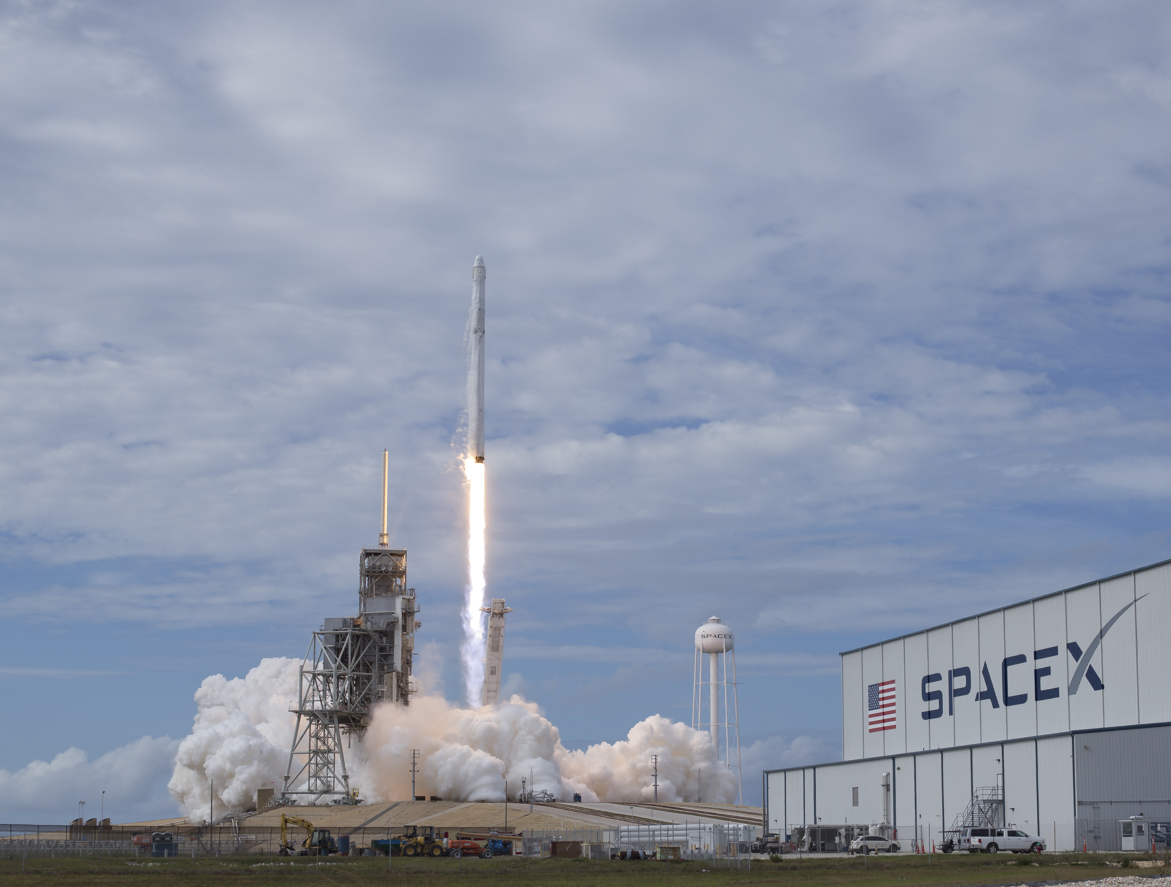 In this handout provided by NASA, a SpaceX Falcon 9 rocket launches from Kennedy Space Center on June 3, 2017.