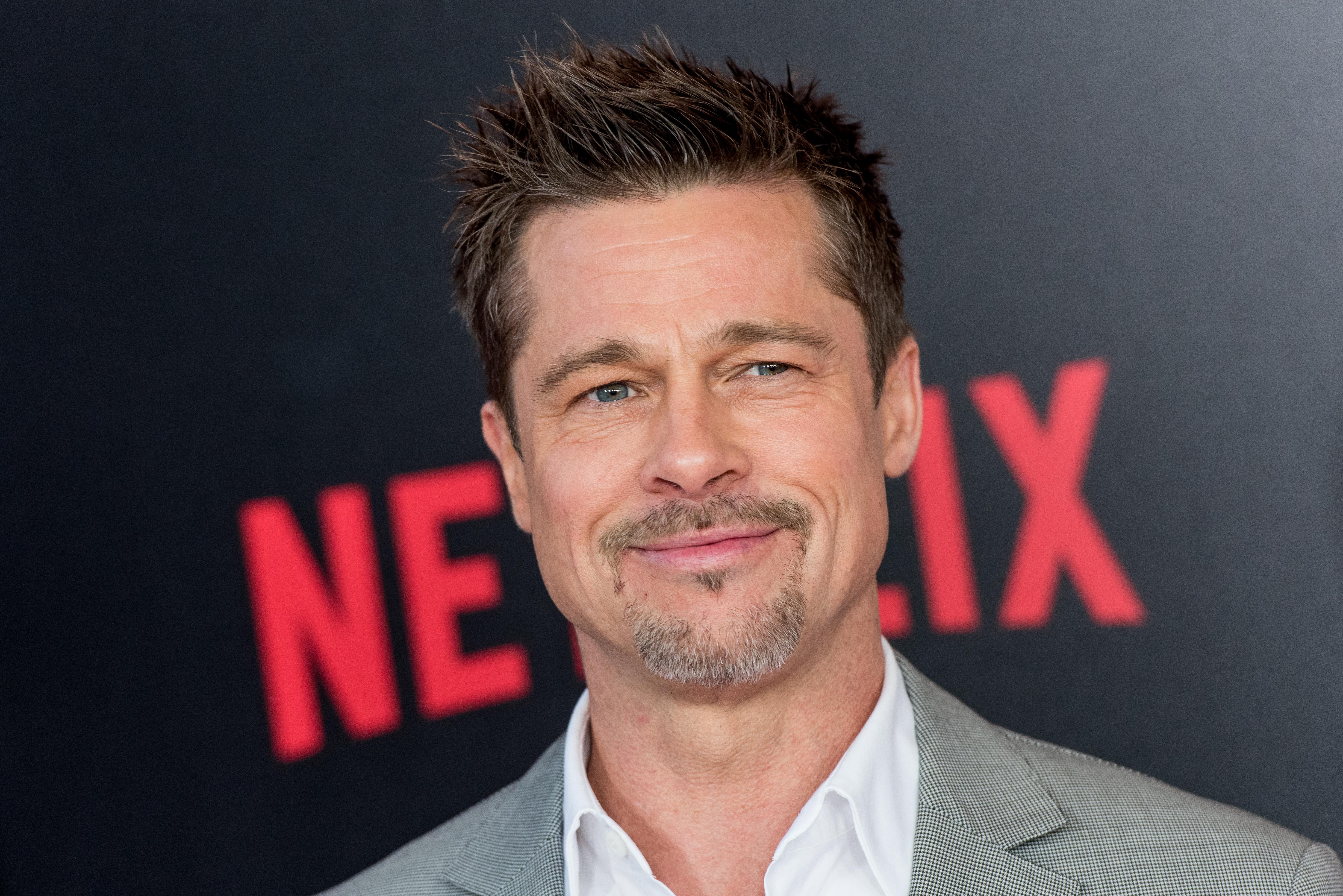 Brad Pitt attends the New York premiere of  Okja  in New York City on June 8, 2017.