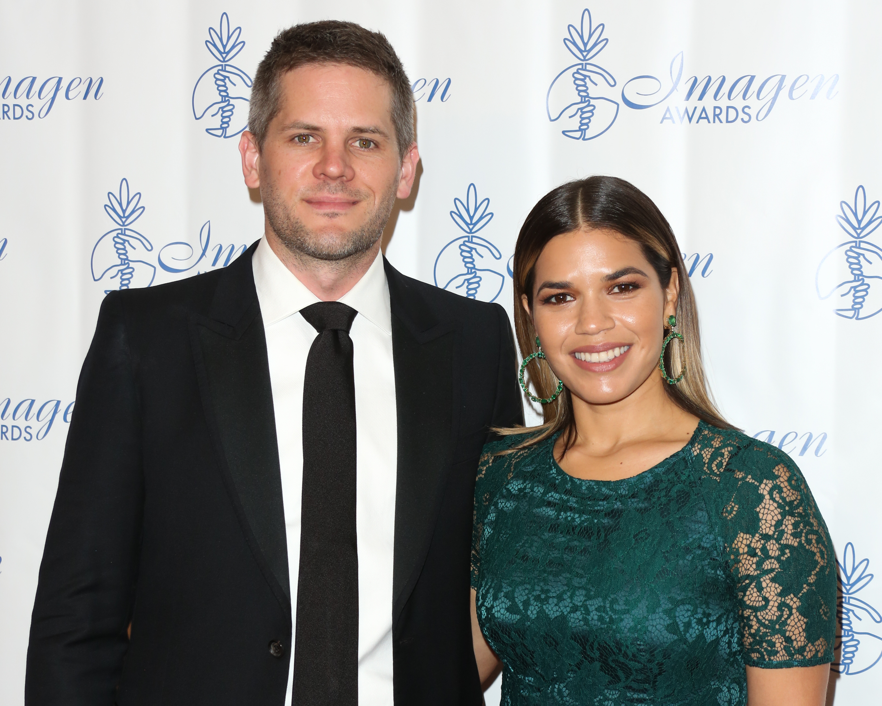 America Ferrera and Ryan Piers Williams at the 32nd Annual Imagen Awards in Beverly Hills, Calif. on Aug. 18, 2017.