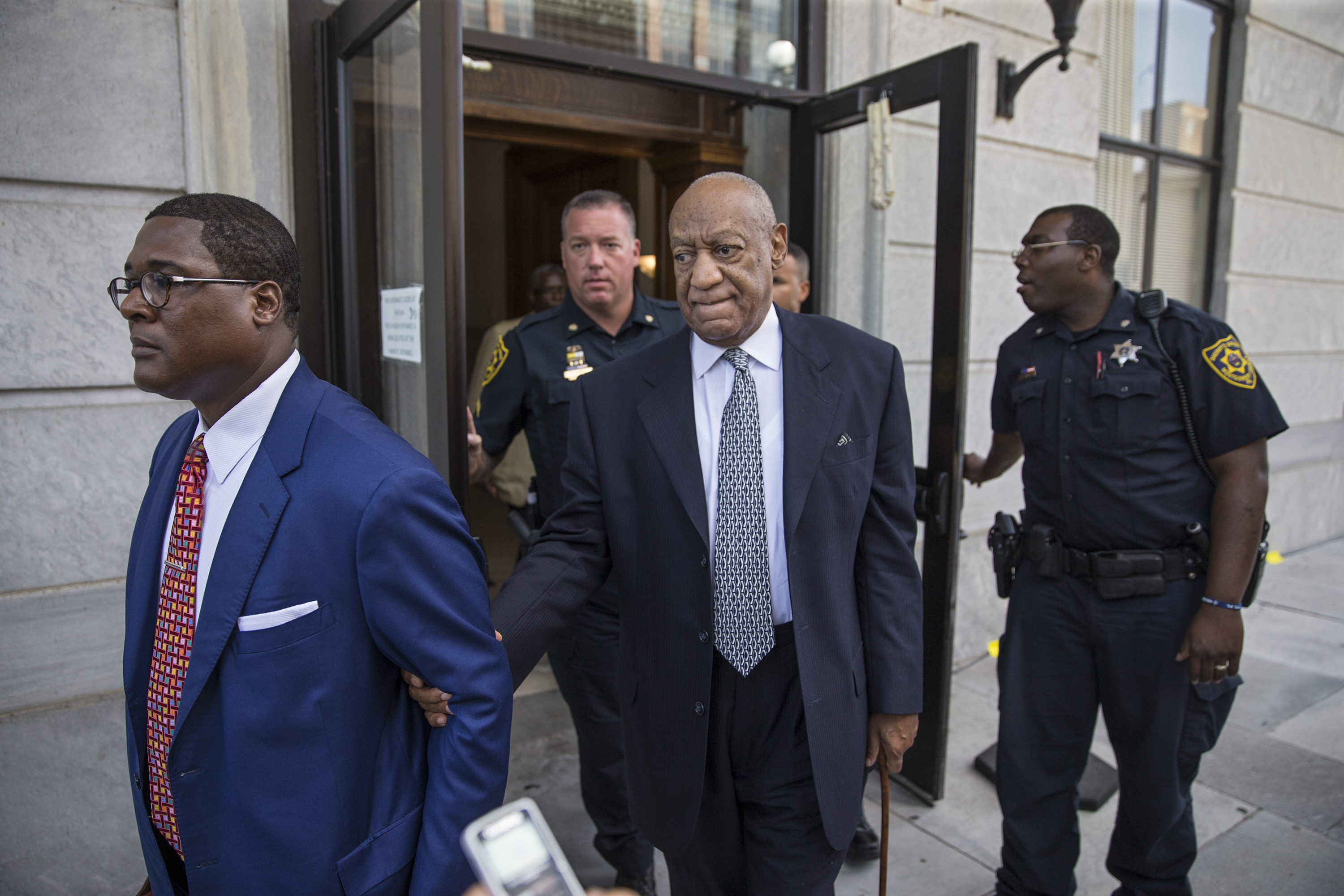 Bill Cosby leaves the Montgomery County Courthouse in Norristown, Pennsylvania on Aug. 22, 2017.