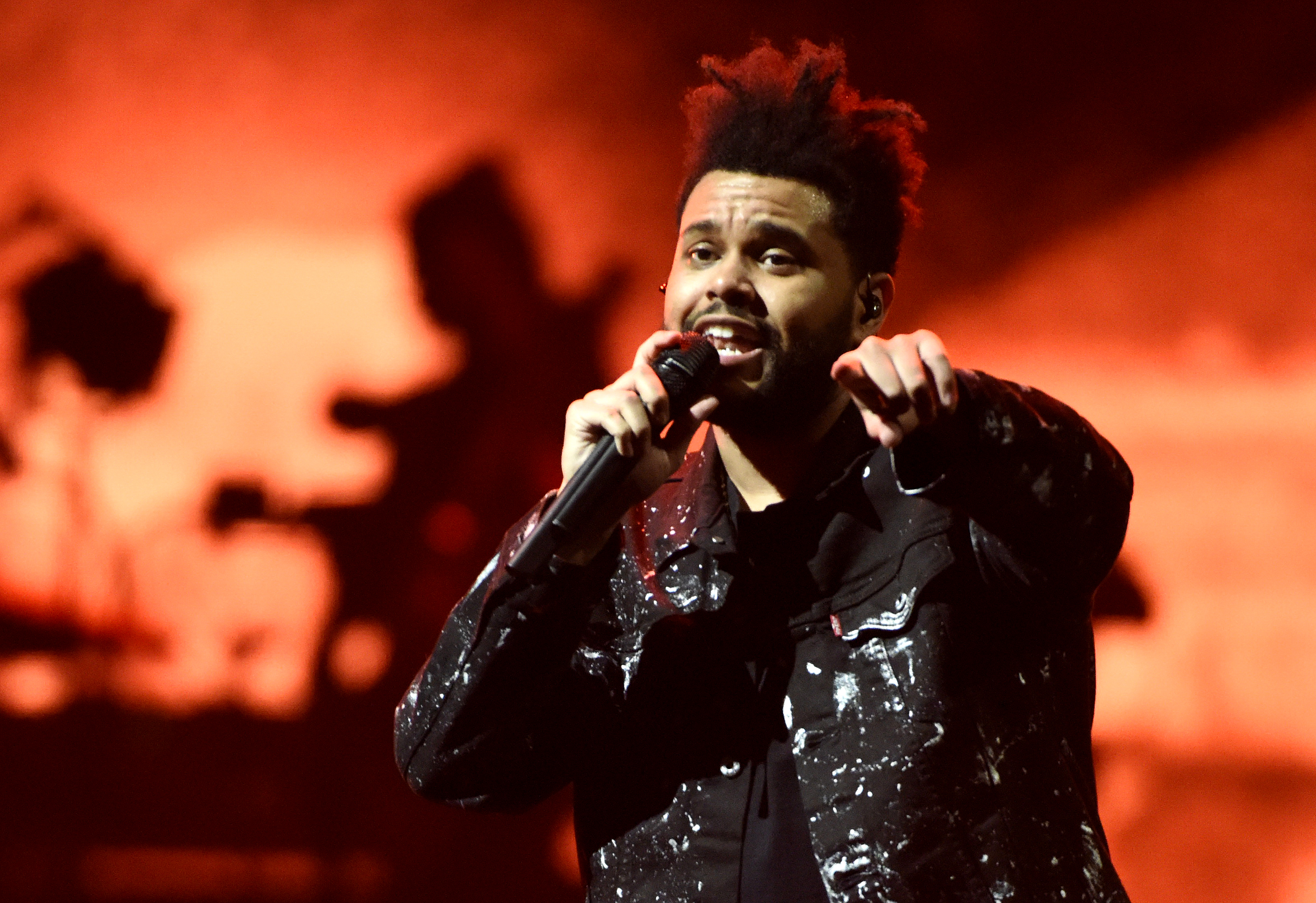 The Weeknd performs during his  Starboy World Tour  at Golden 1 Center on October 11, 2017 in Sacramento, California.