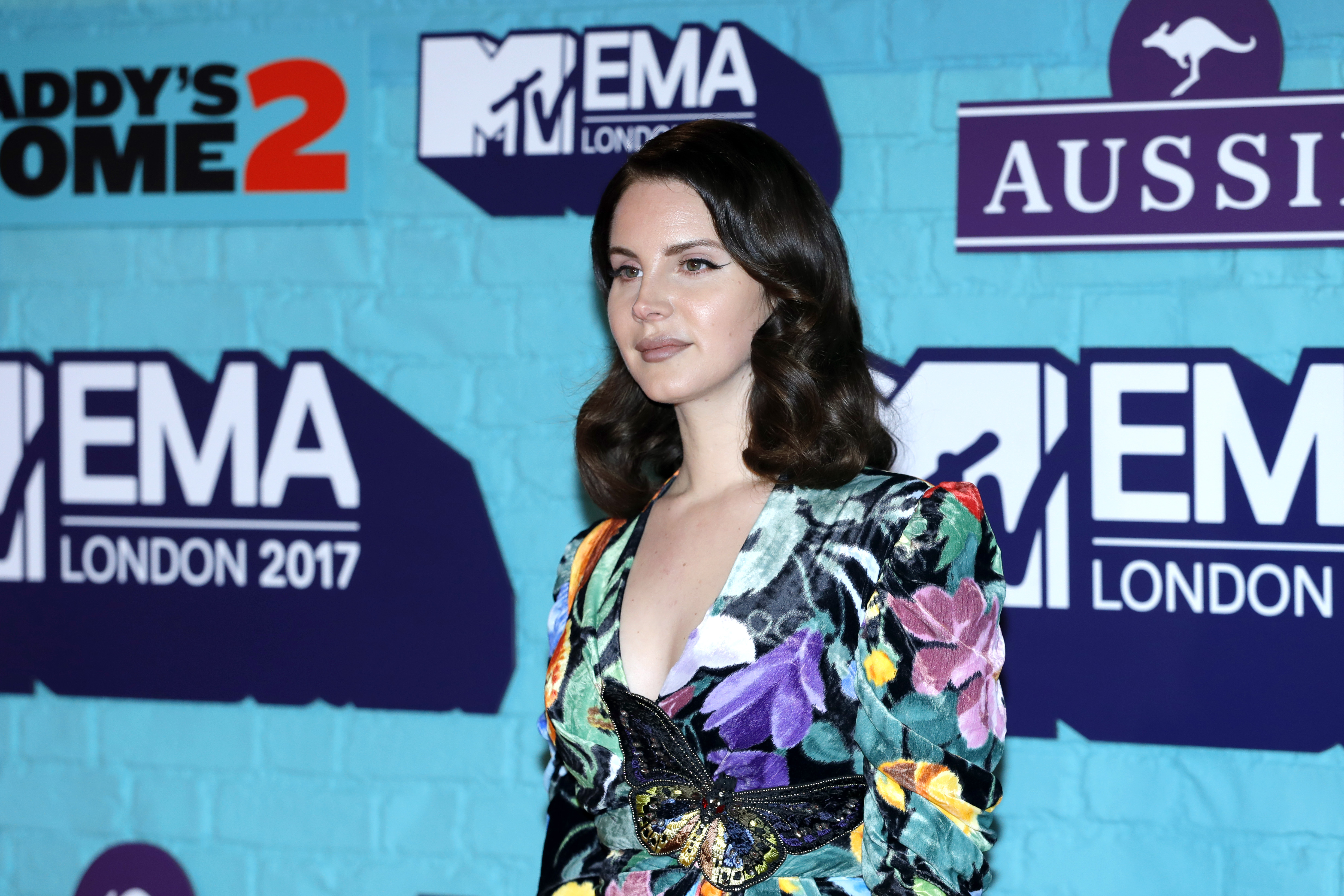 Lana Del Rey attends the MTV EMAs 2017 held at The SSE Arena, Wembley on November 12, 2017 in London, England.