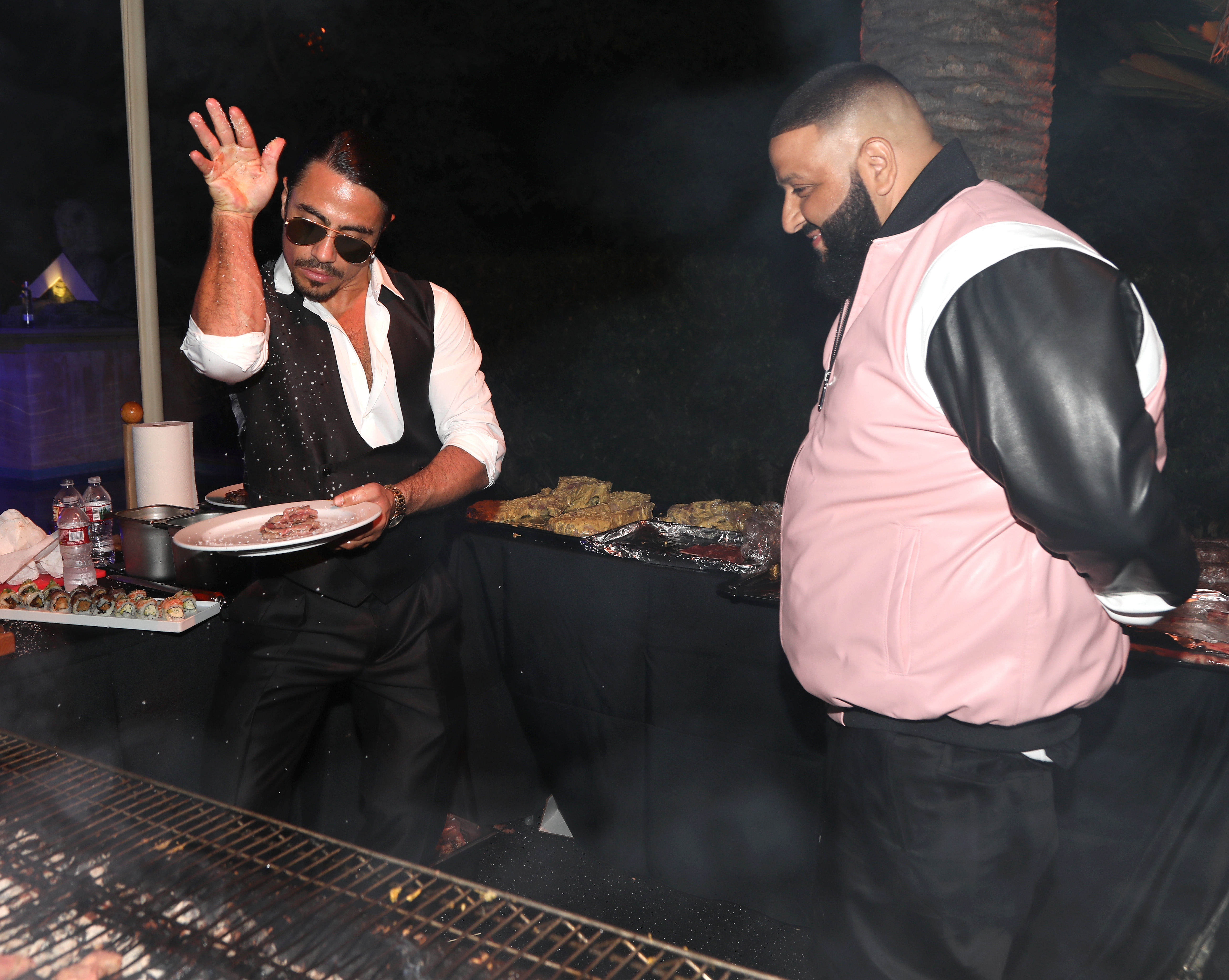 BEVERLY HILLS, CA - DECEMBER 02:  Salt Bae Nusret Gökçe and DJ Khaled attend The Four cast Sean Diddy Combs, Fergie, and Meghan Trainor Host DJ Khaled's Birthday Presented by CÎROC and Fox on December 2, 2017 in Beverly Hills, California.  (Photo by Jerritt Clark/Getty Images for Ciroc)