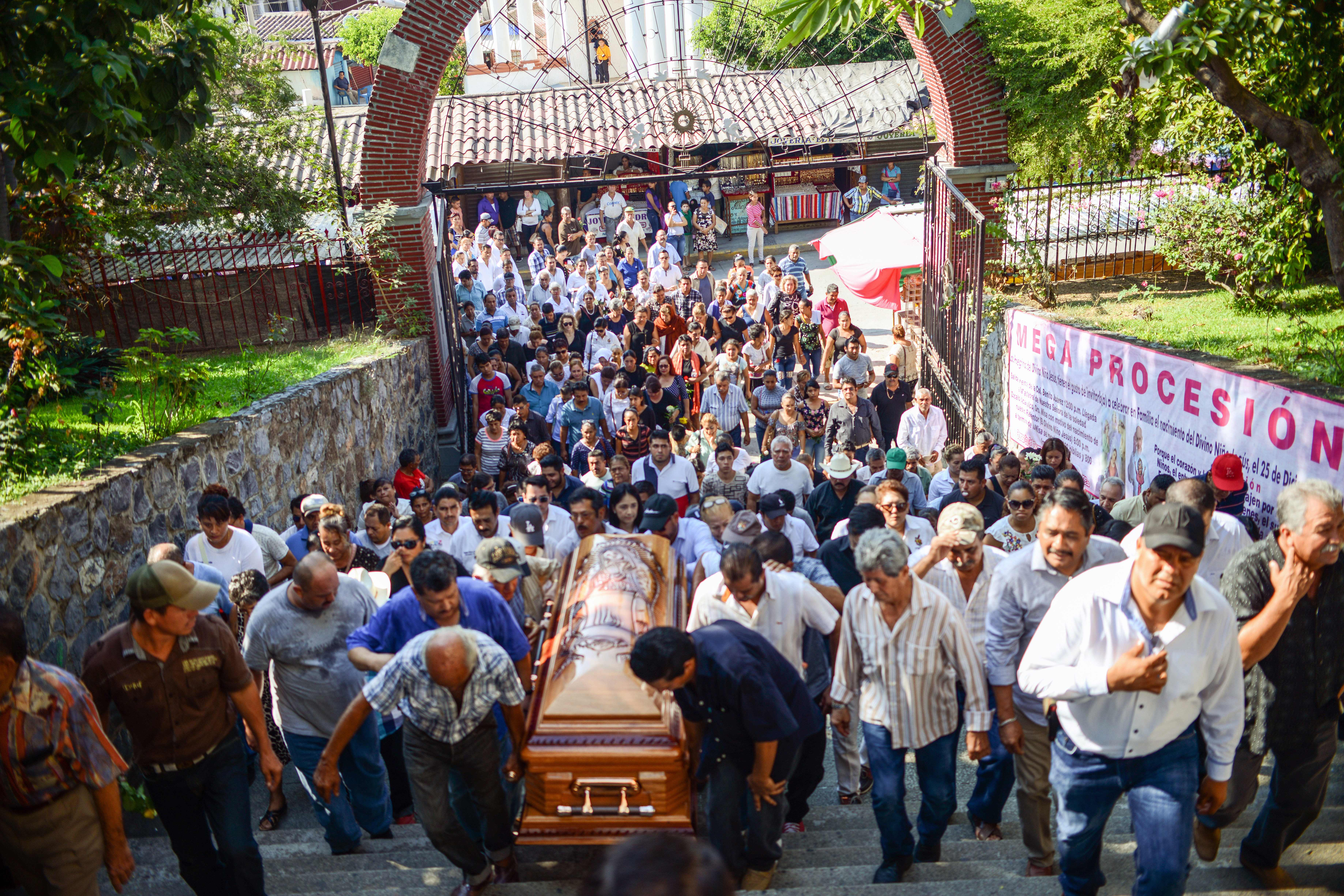 The funeral of Petatlan mayor Arturo Gomez in Guerrero State, Mexico on Dec. 29, 2017.