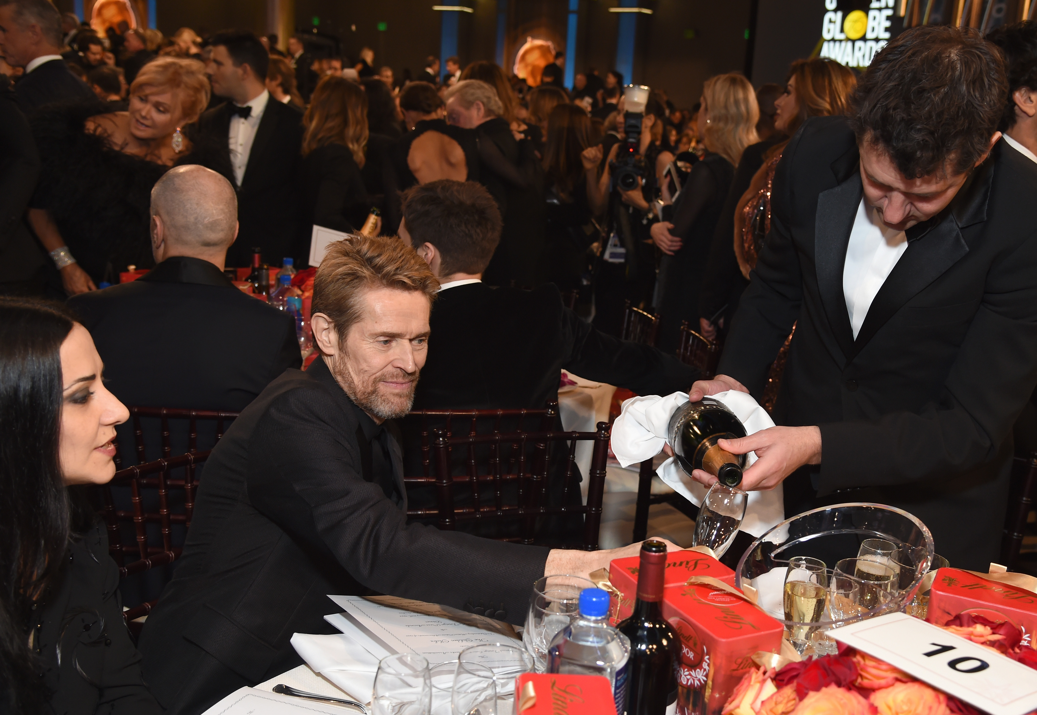 BEVERLY HILLS, CA - JANUARY 07:  Actor Willem Dafoe celebrates The 75th Annual Golden Globe Awards with Moet & Chandon at The Beverly Hilton Hotel on January 7, 2018 in Beverly Hills, California.  (Photo by Michael Kovac/Getty Images for Moet & Chandon)