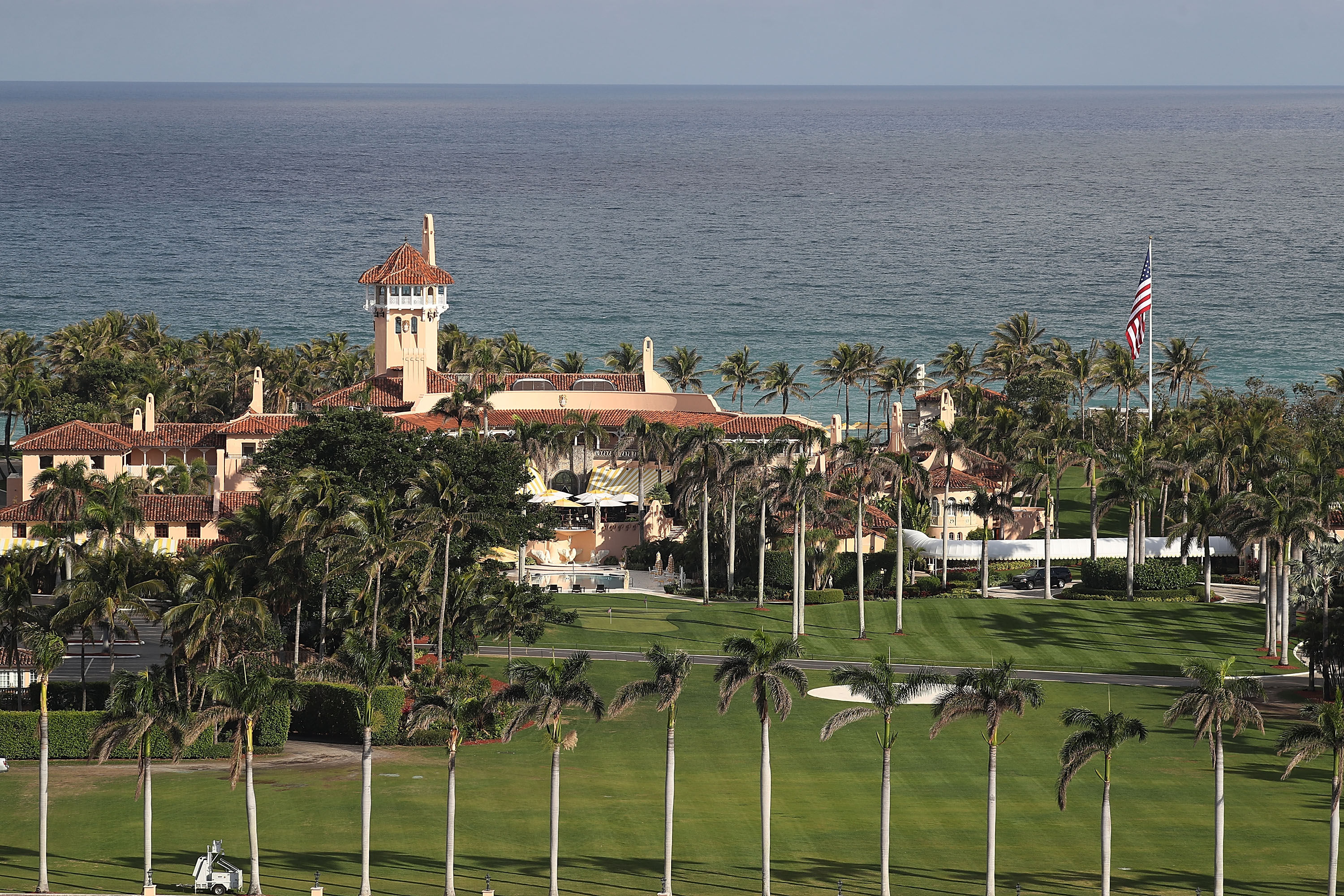 President Donald Trump's beach front Mar-a-Lago resort on Jan. 11, 2018