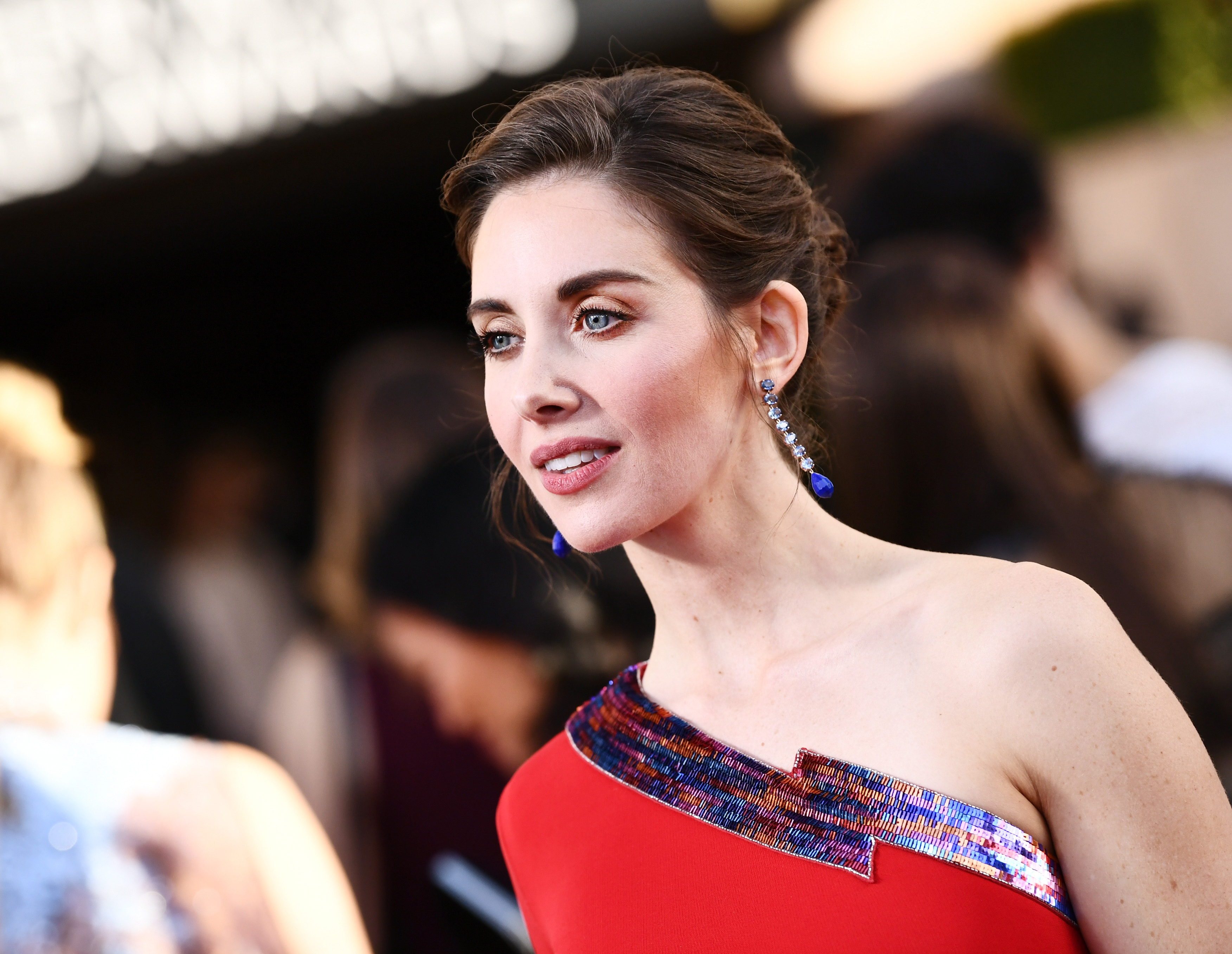 Actor Alison Brie attends the 24th Annual Screen Actors Guild Awards at The Shrine Auditorium on January 21, 2018 in Los Angeles, California.