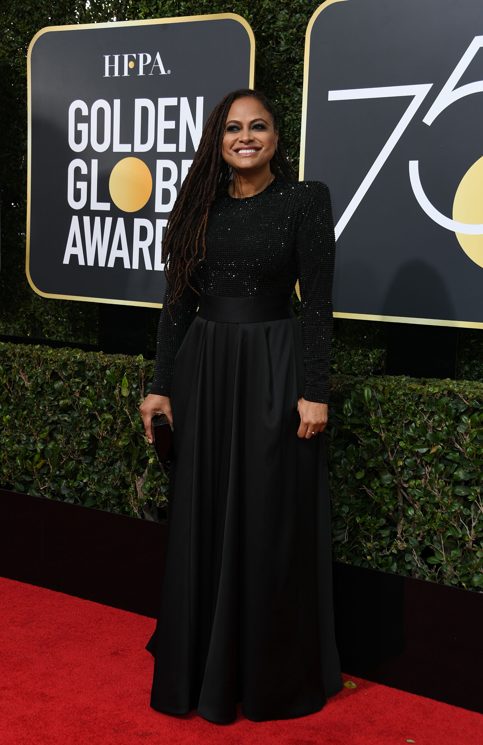 Ava DuVernay arrives for the 75th Golden Globe Awards on January 7, 2018, in Beverly Hills, California.