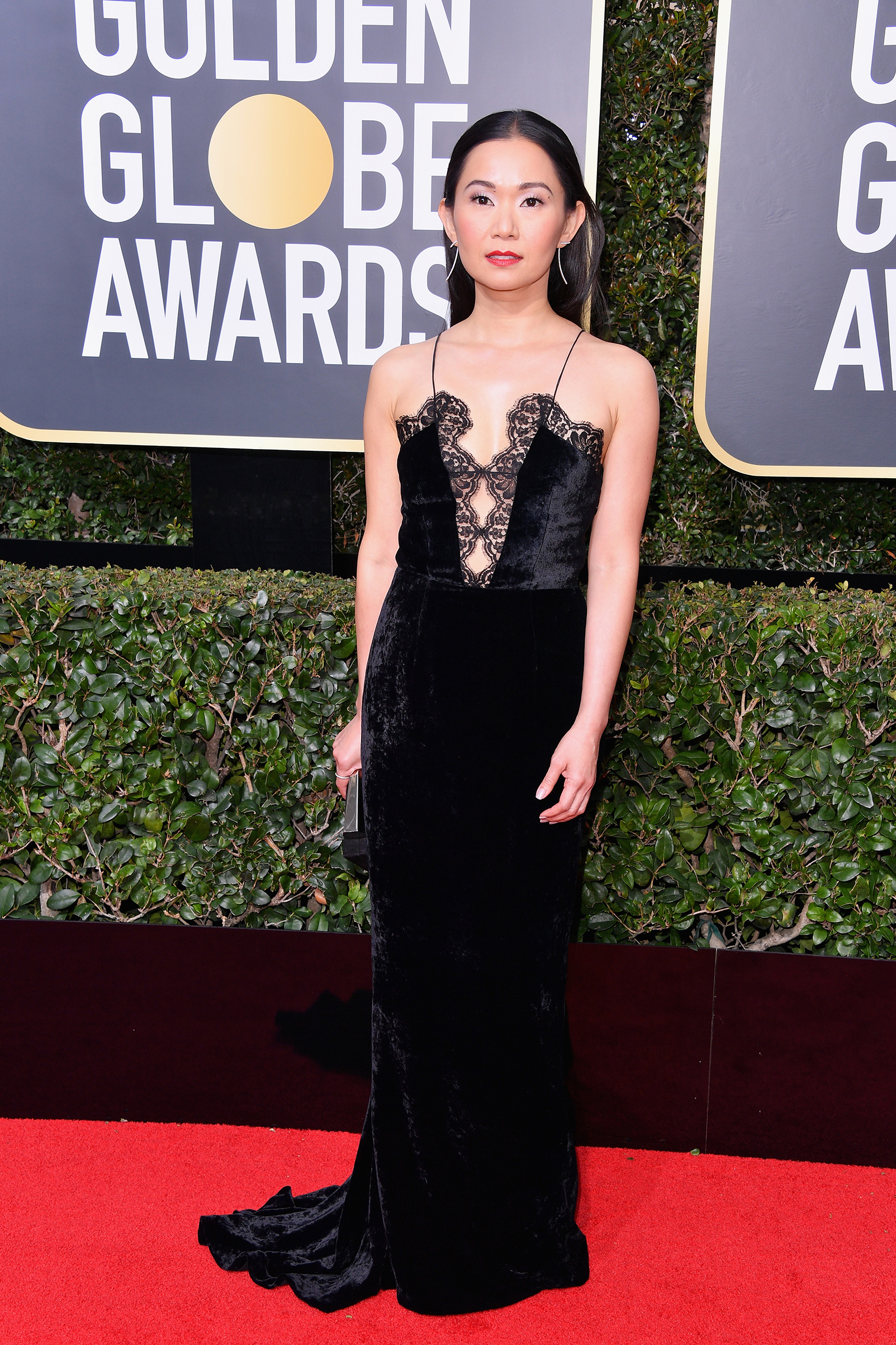 Actor Hong Chau  attends The 75th Annual Golden Globe Awards at The Beverly Hilton Hotel on January 7, 2018 in Beverly Hills, California.