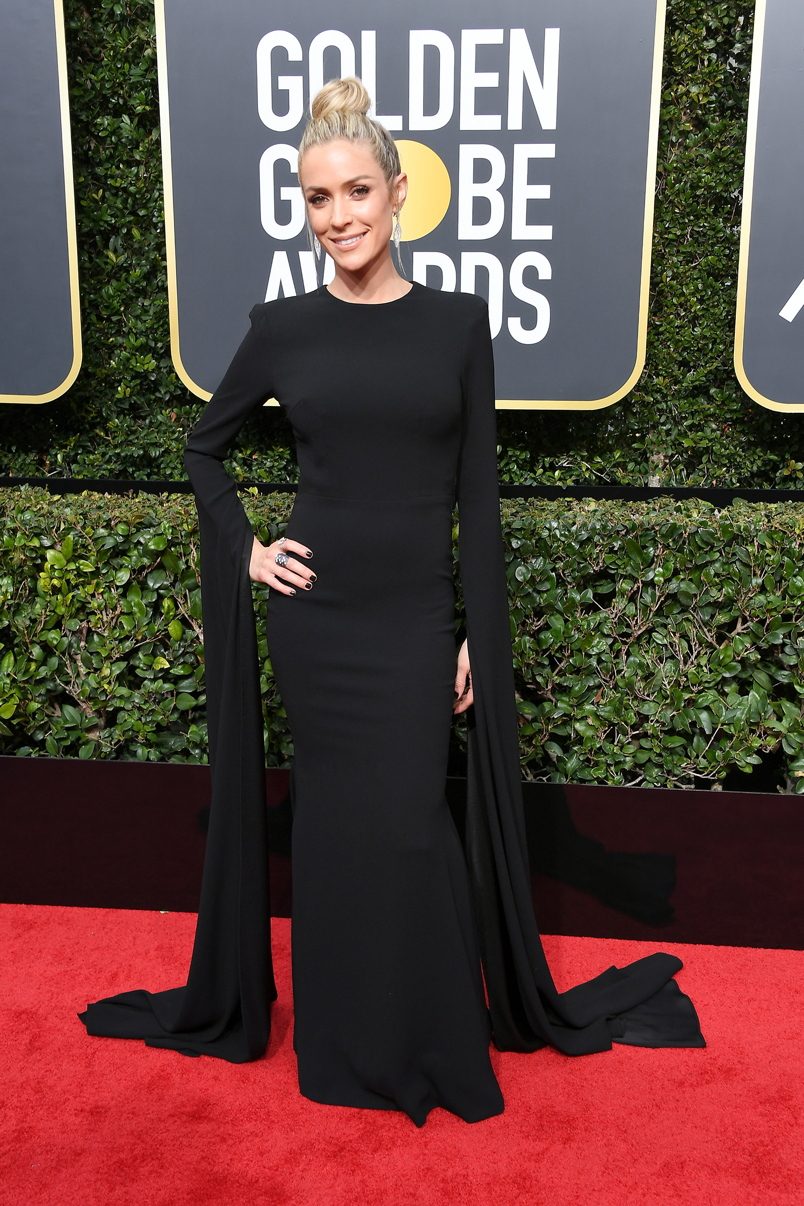 TV personality Kristin Cavallari attends The 75th Annual Golden Globe Awards at The Beverly Hilton Hotel on January 7, 2018 in Beverly Hills, California.