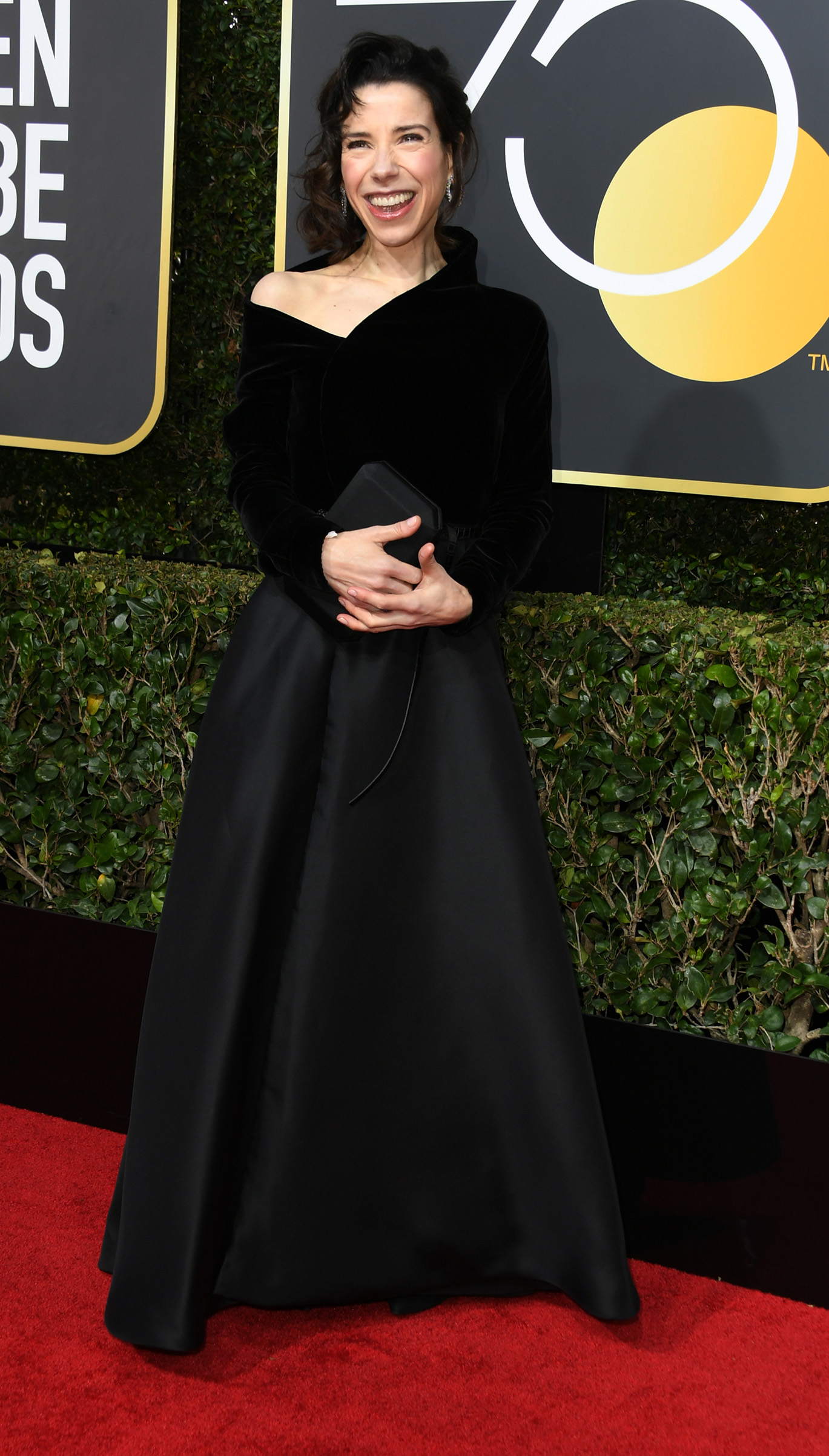 Actress Sally Hawkins arrives for the 75th Golden Globe Awards on January 7, 2018, in Beverly Hills, California.