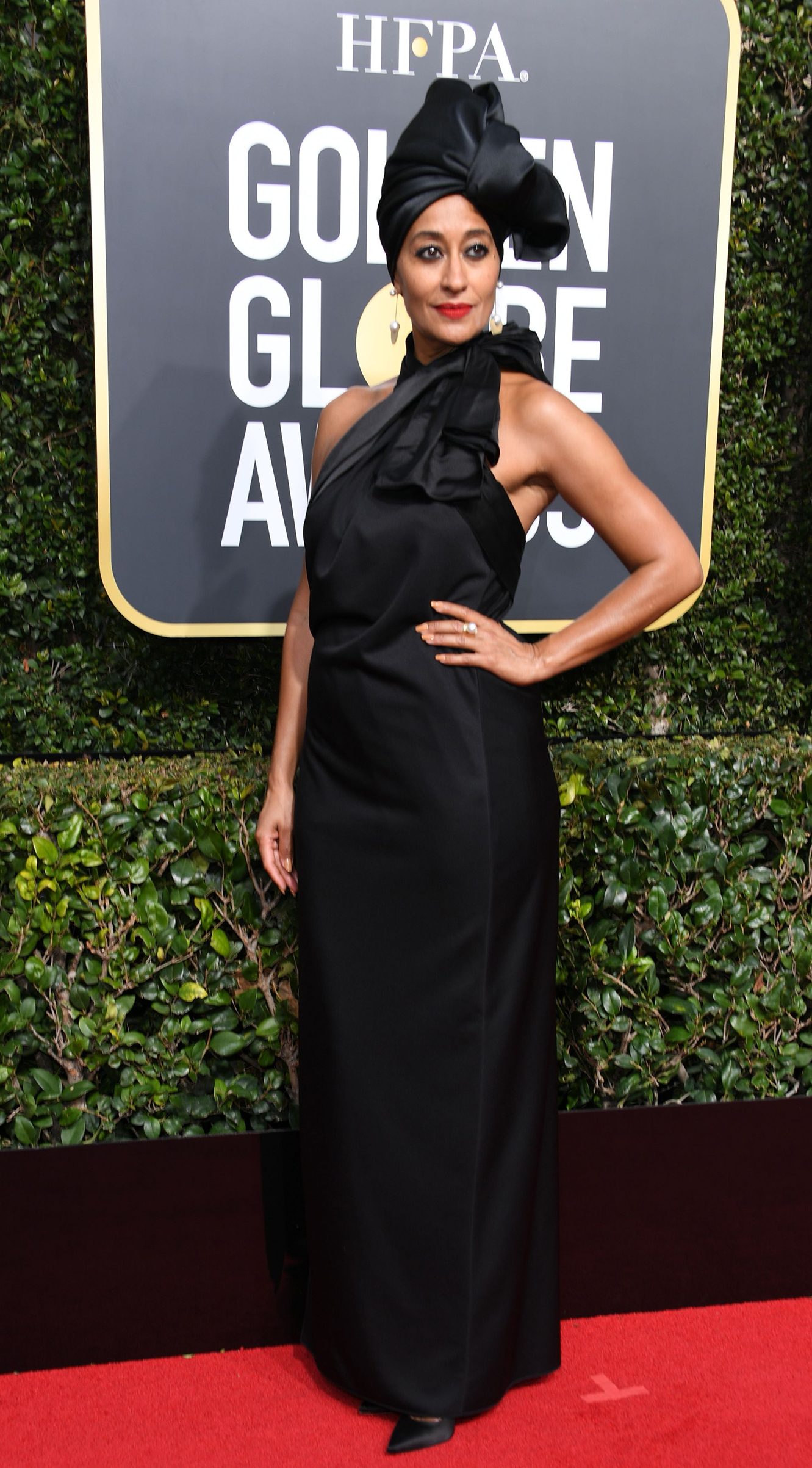 Actress Tracee Ellis Ross arrives for the 75th Golden Globe Awards on January 7, 2018, in Beverly Hills, California.