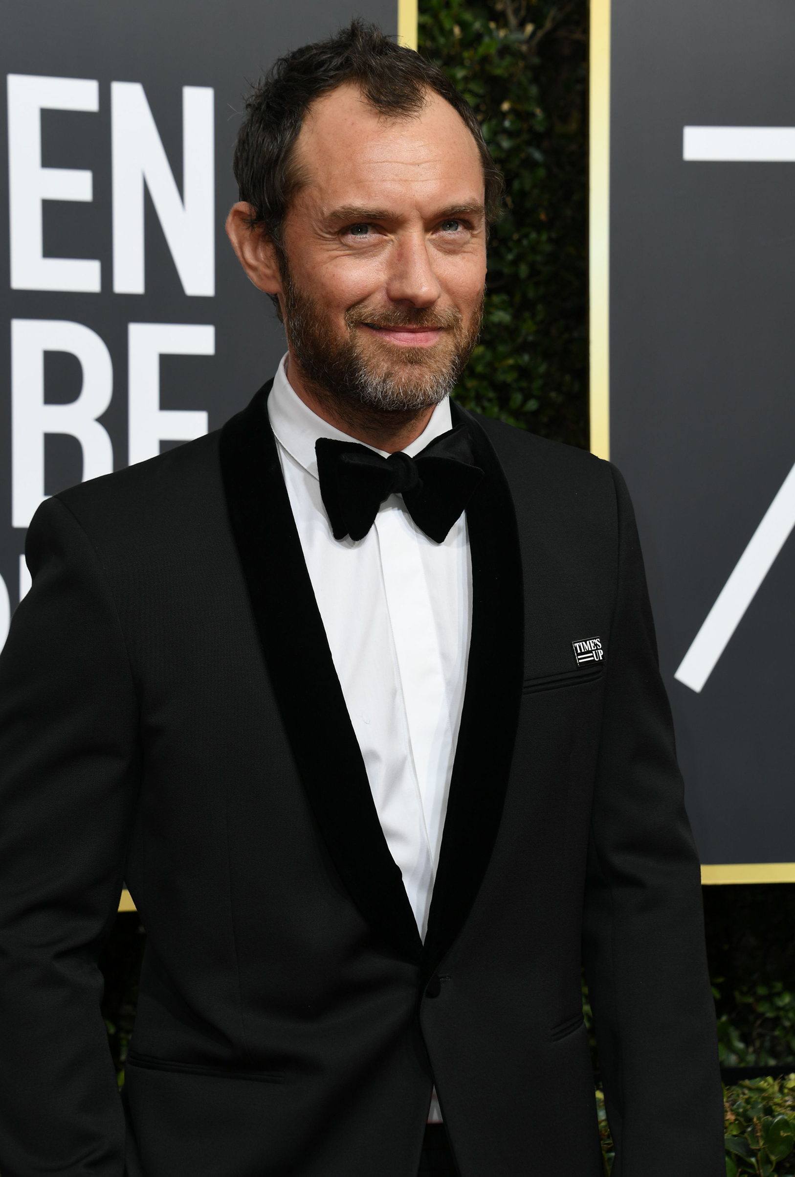 Actor Jude Law arrives for the 75th Golden Globe Awards on January 7, 2018, in Beverly Hills, California.