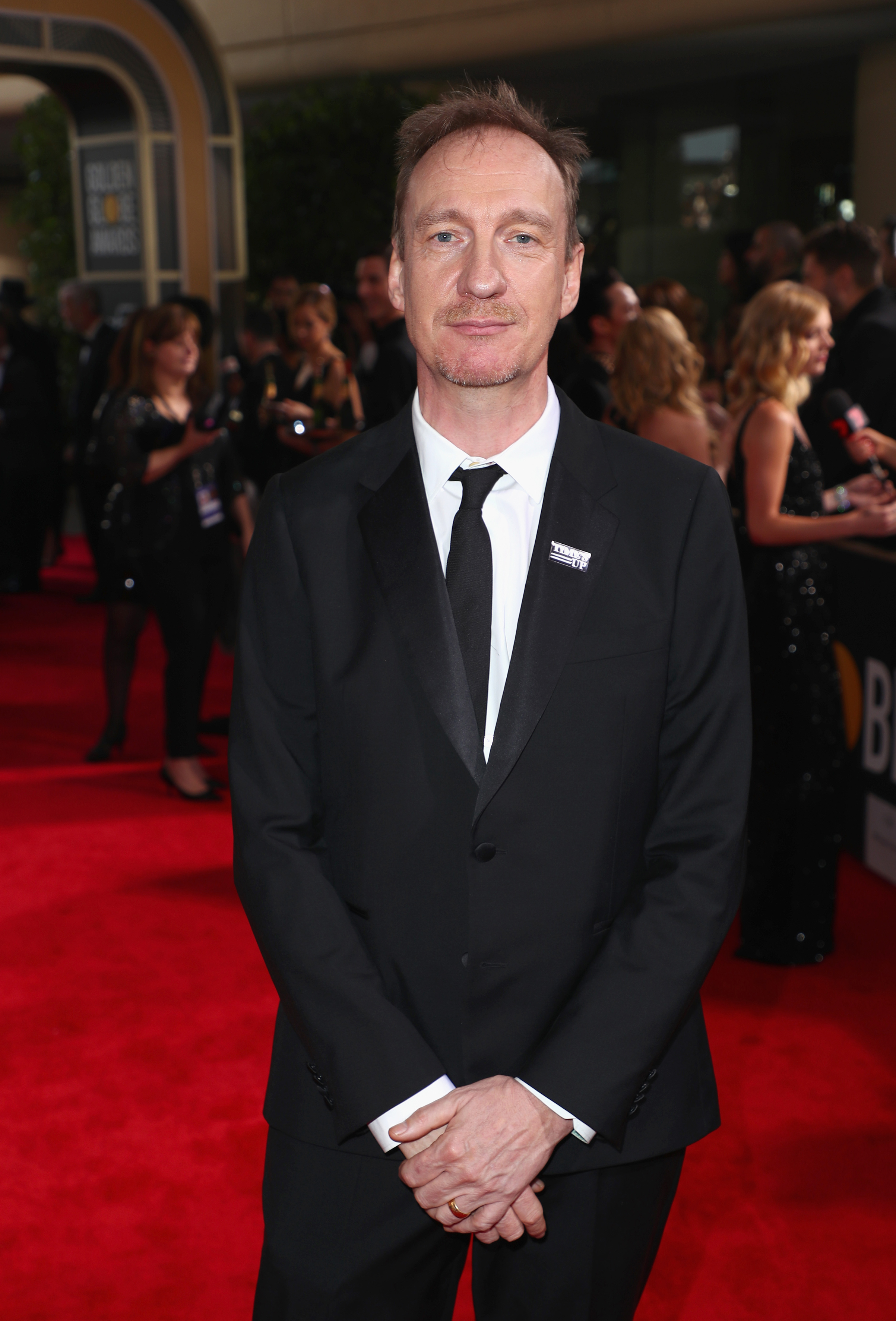 David Thewlis celebrates The 75th Annual Golden Globe Awards with Moet & Chandon at The Beverly Hilton Hotel on January 7, 2018 in Beverly Hills, California.
