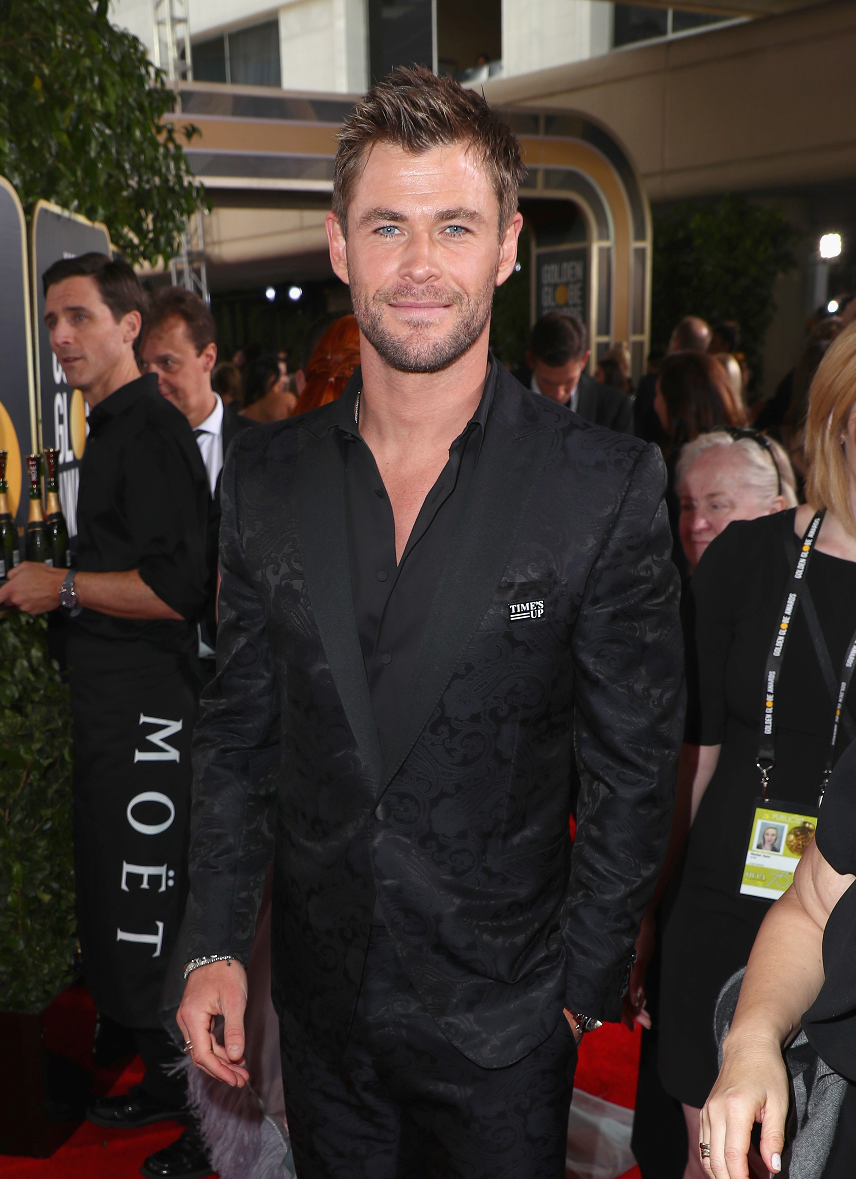 Actor Chris Hemsworth celebrates The 75th Annual Golden Globe Awards with Moet & Chandon at The Beverly Hilton Hotel on January 7, 2018 in Beverly Hills, California.