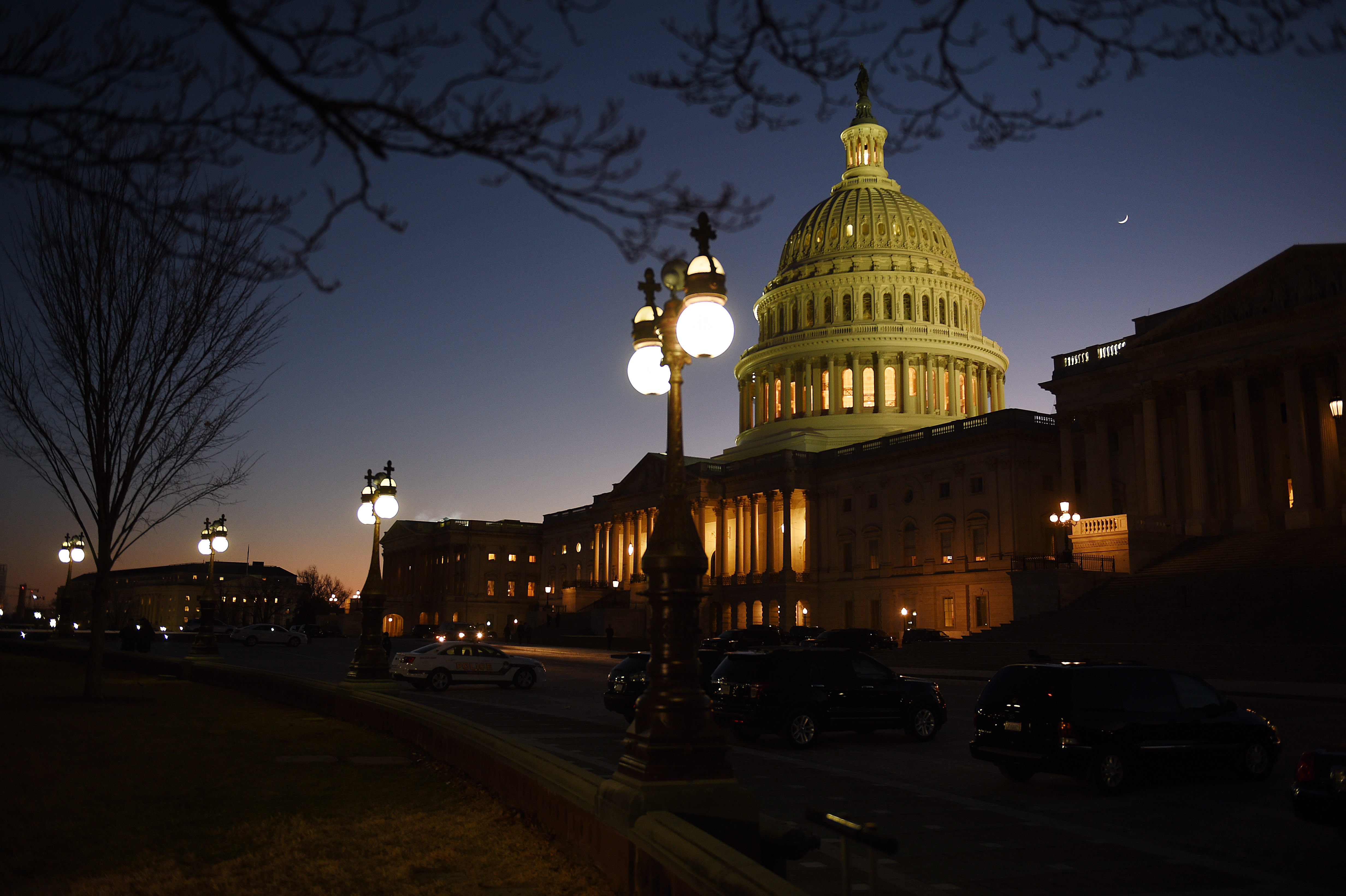WASHINGTON, DC - JANUARY 19: Lawmakers on Capitol Hill in Washington, D.C., January 19, 2018, struggle to avoid an impending government shutdown. The federal government continued to move toward a shutdown Friday evening as an earlier attempt to reach a resolution during a meeting between President Trump and the Senates top Democrat failed.