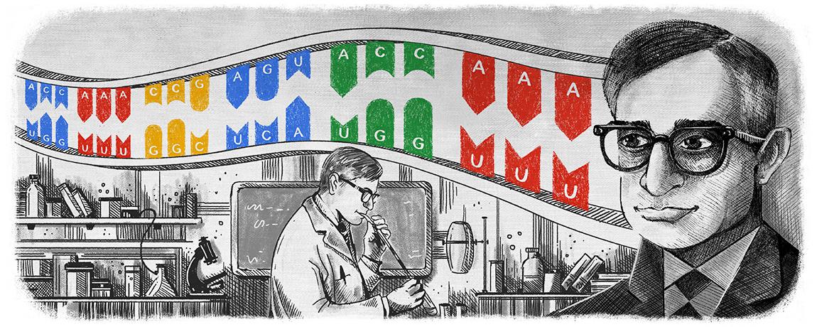 Har Gobind Khorana Google Doodle