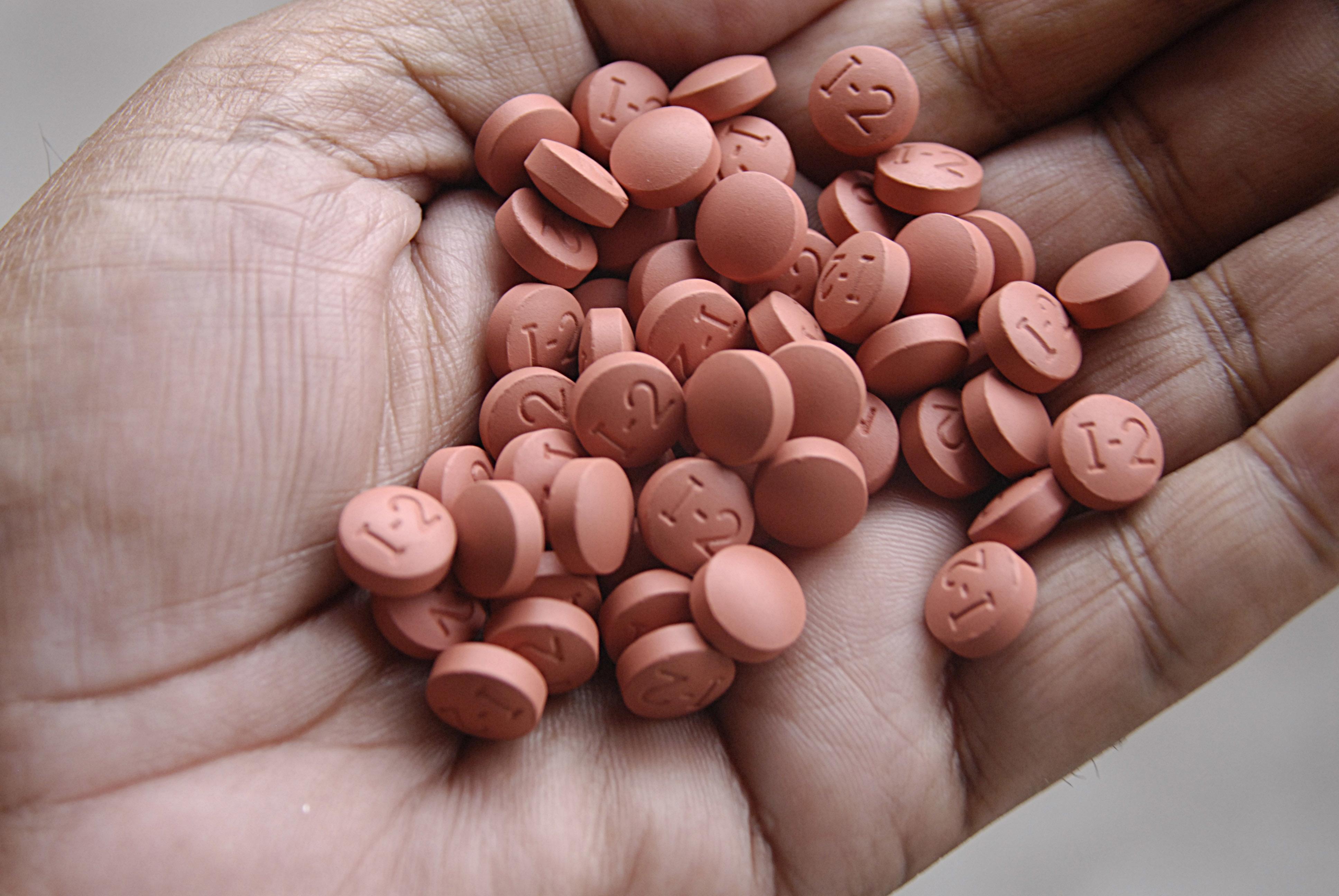 Ibuprofen tablets.