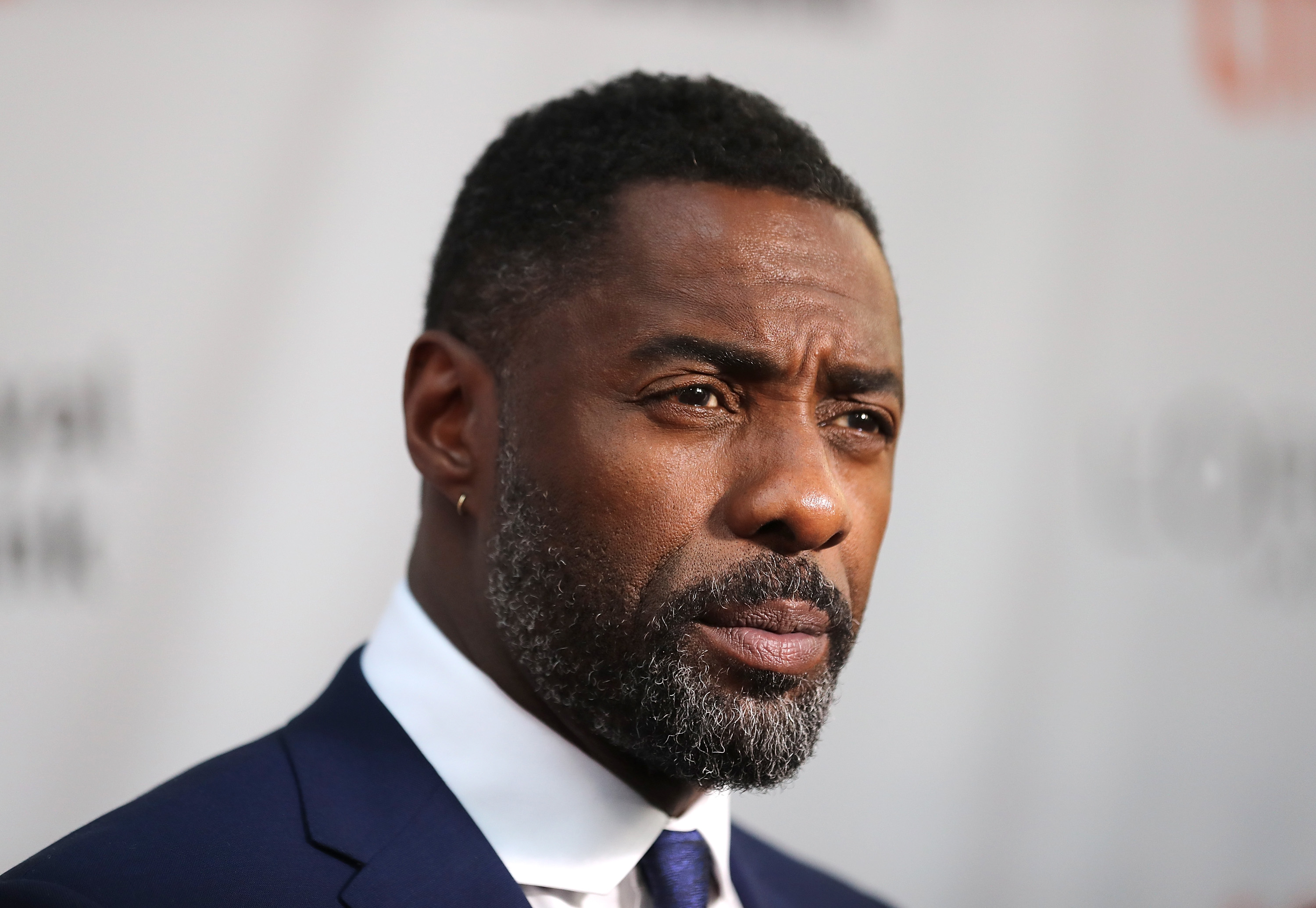 Actor Idris Elba speaks to the media at the premiere of  The Mountain Between Us  during the 2017 Toronto International Film Festival at Roy Thomson Hall on September 10, 2017 in Toronto, Canada.