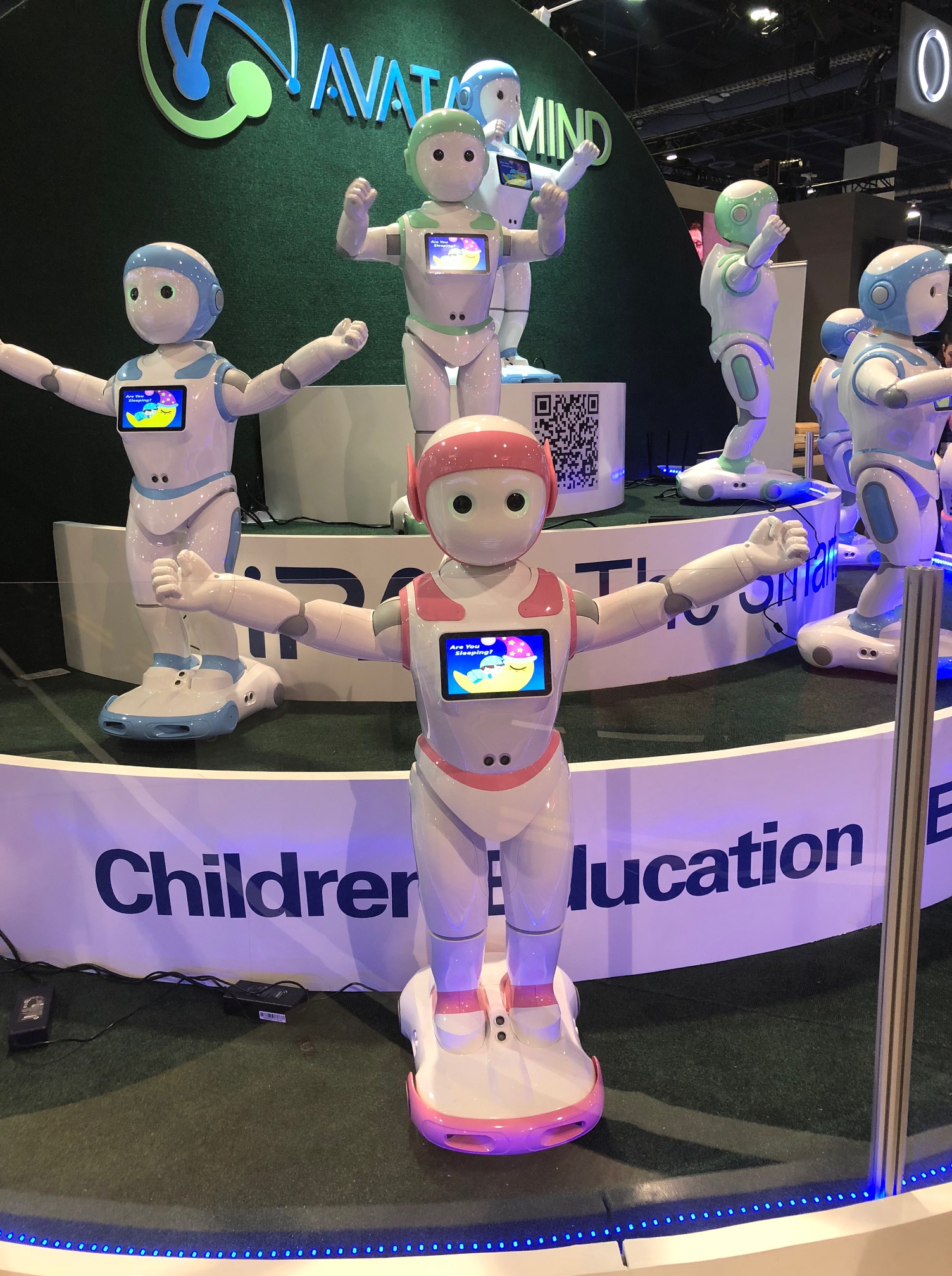 The iPal robot, shown at CES 2018, can be used as a companion for children and the elderly.