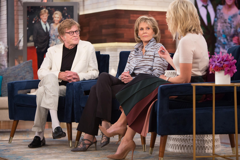 Robert Redford, Jane Fonda and Megyn Kelly on Wednesday, September 27, 2017 --