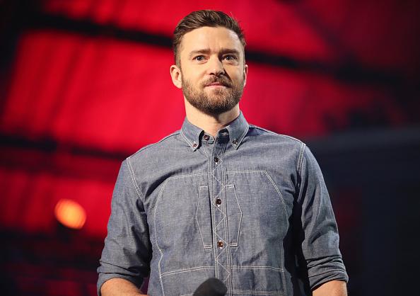 Justin Timberlake speaks on stage during XQ Super School Live at Barker Hangar on September 8, 2017 in Santa California.