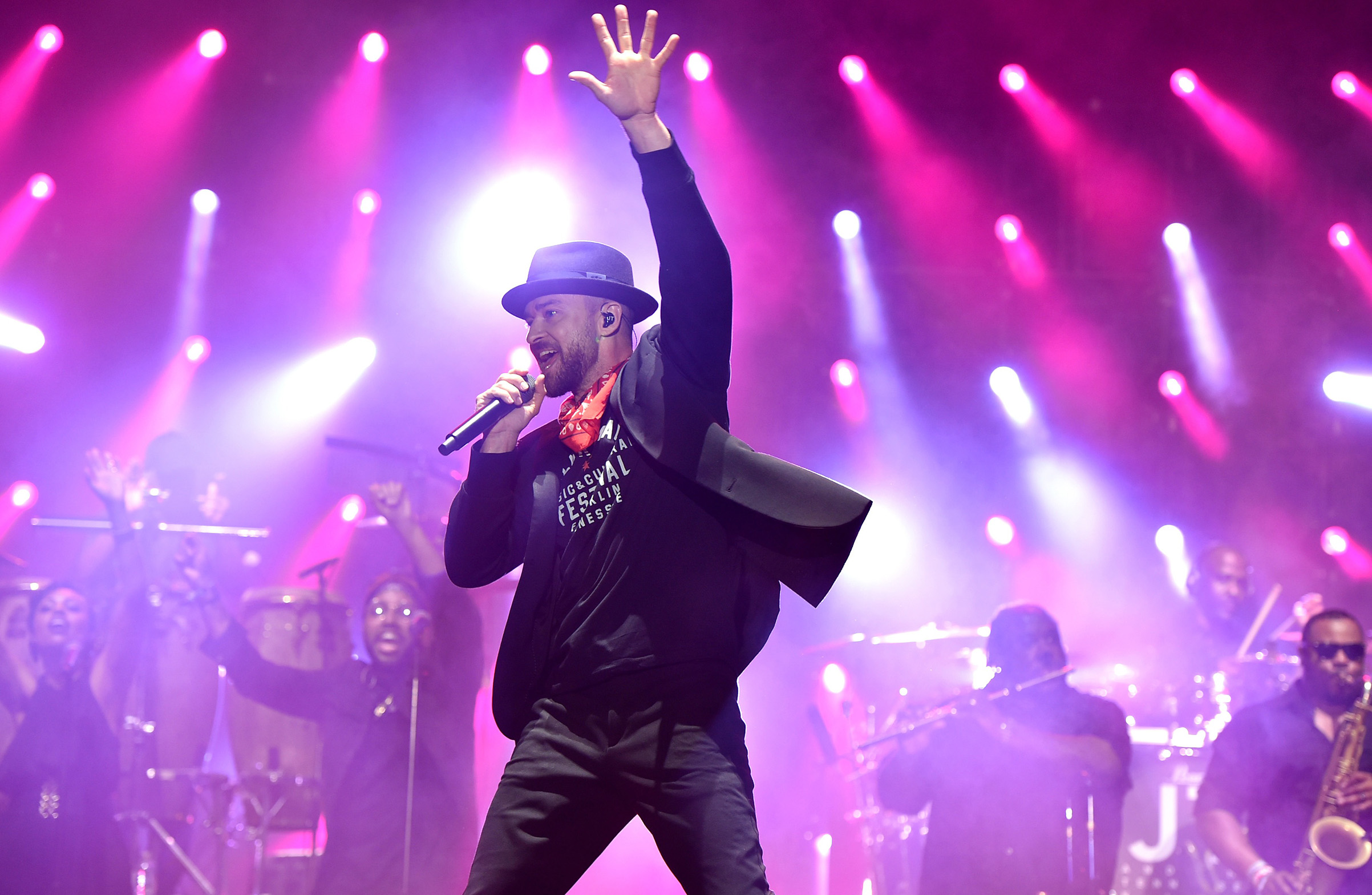 "Timberlake returns to the Super Bowl 14 years after the ""wardrobe malfunction"" with Janet Jackson"