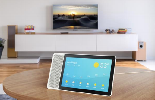 The Lenovo Smart Display, which runs on the Google Assistant