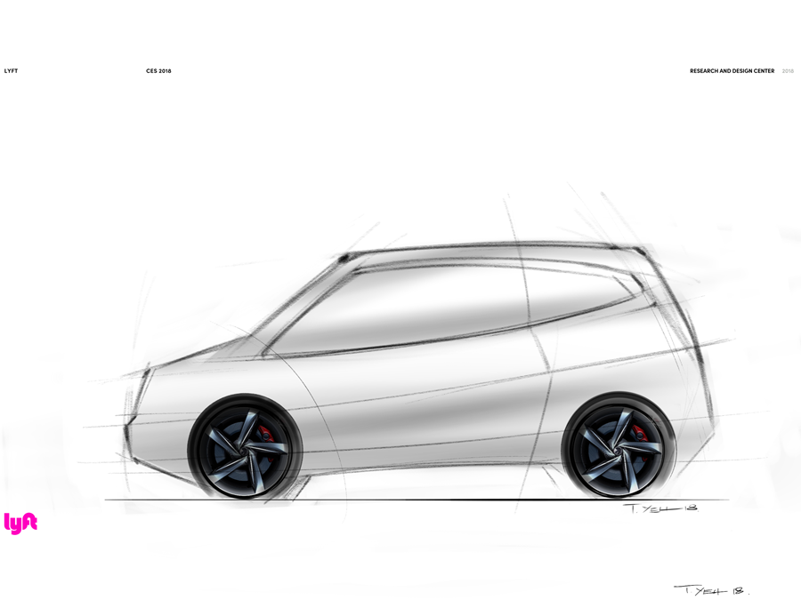 A concept sketch of what a self-driving car could look like