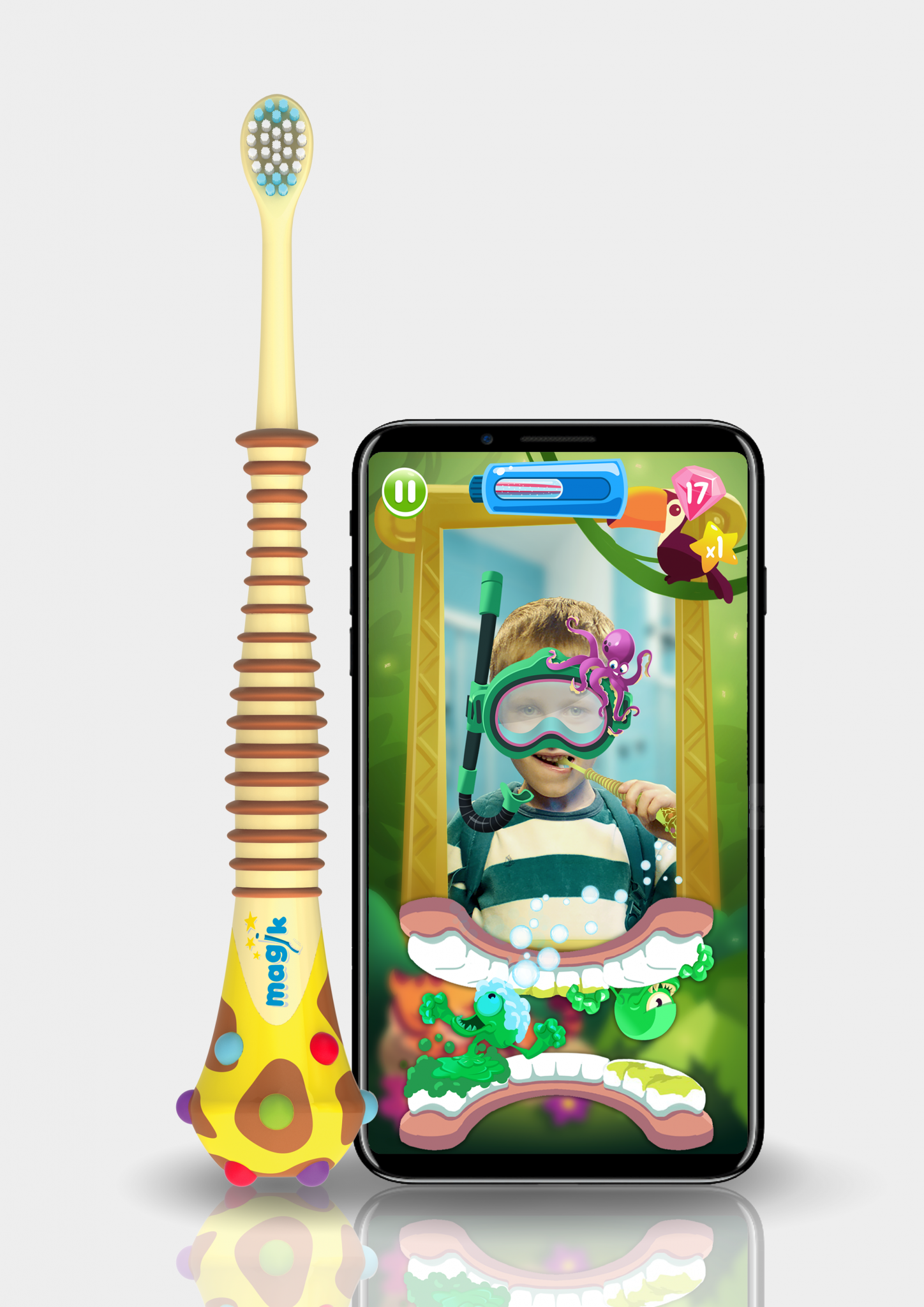 Kolibree's augmented reality Magik toothbrush was shown at CES 2018