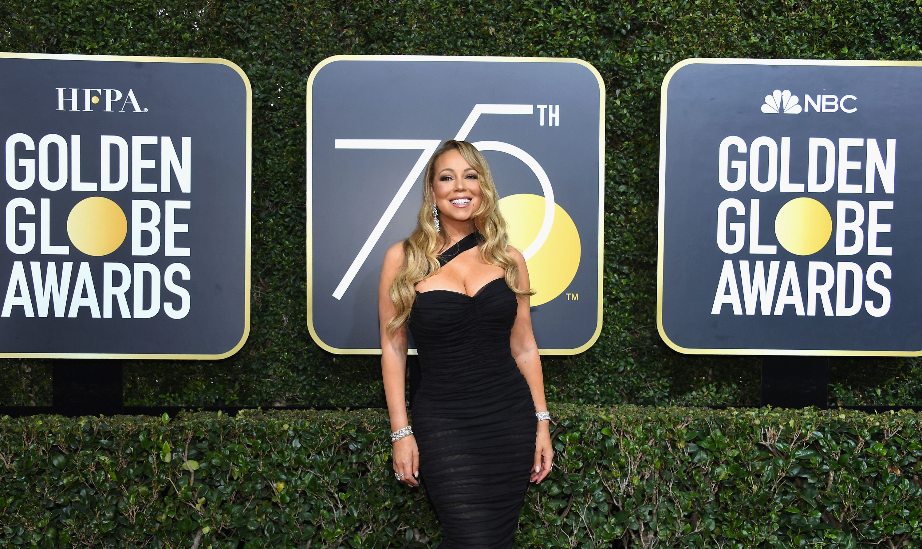 Singer Mariah Carey arrives to the 75th Annual Golden Globe Awards held at the Beverly Hilton Hotel on January 7, 2018.