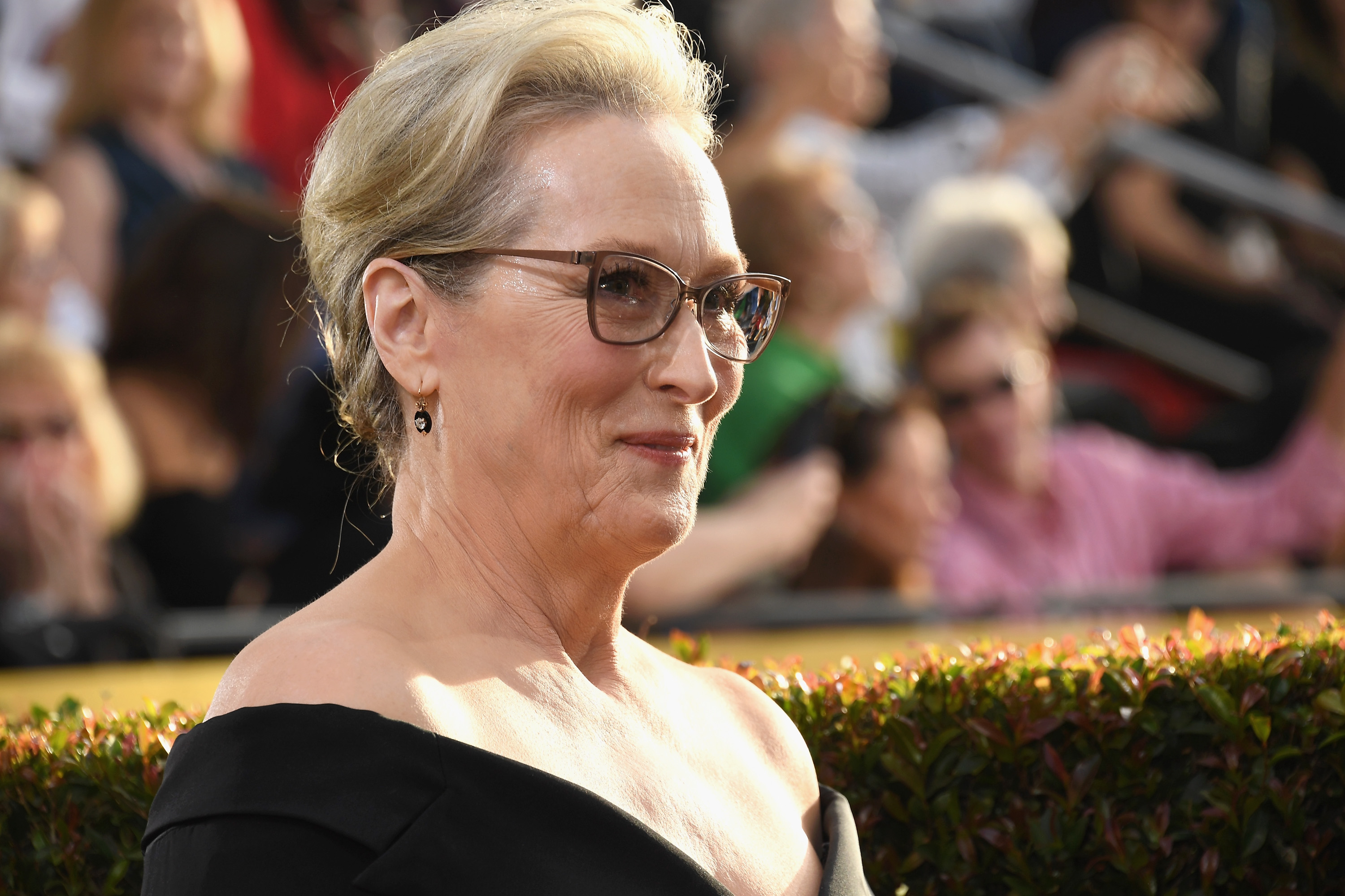 Meryl Streep arrives to the 75th Annual Golden Globe Awards held at the Beverly Hilton Hotel on Jan. 7, 2018.